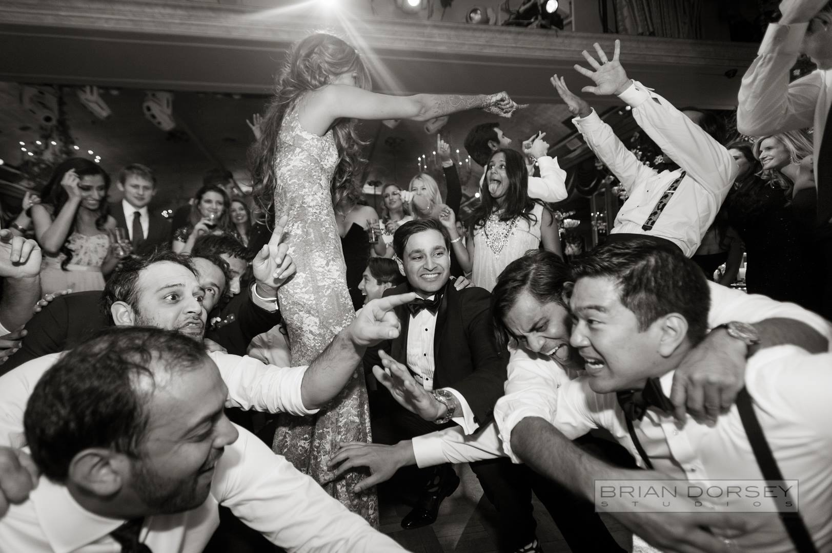 indian guests dancing
