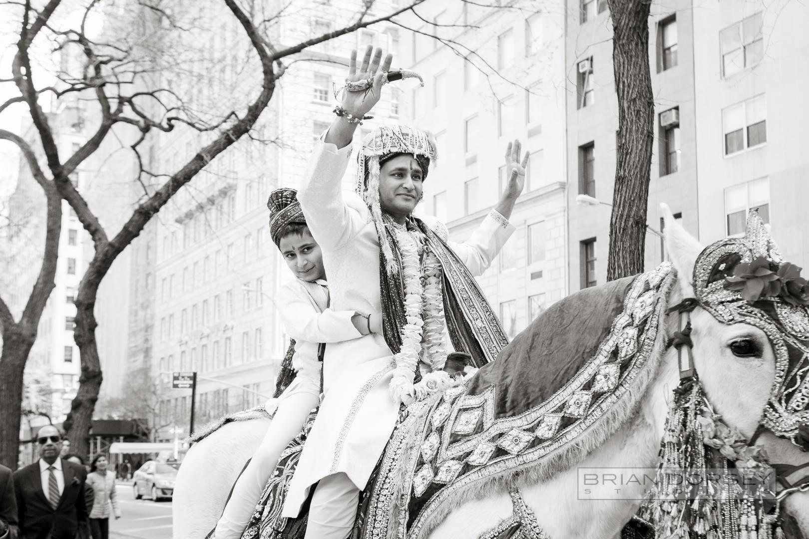 groom at baraat