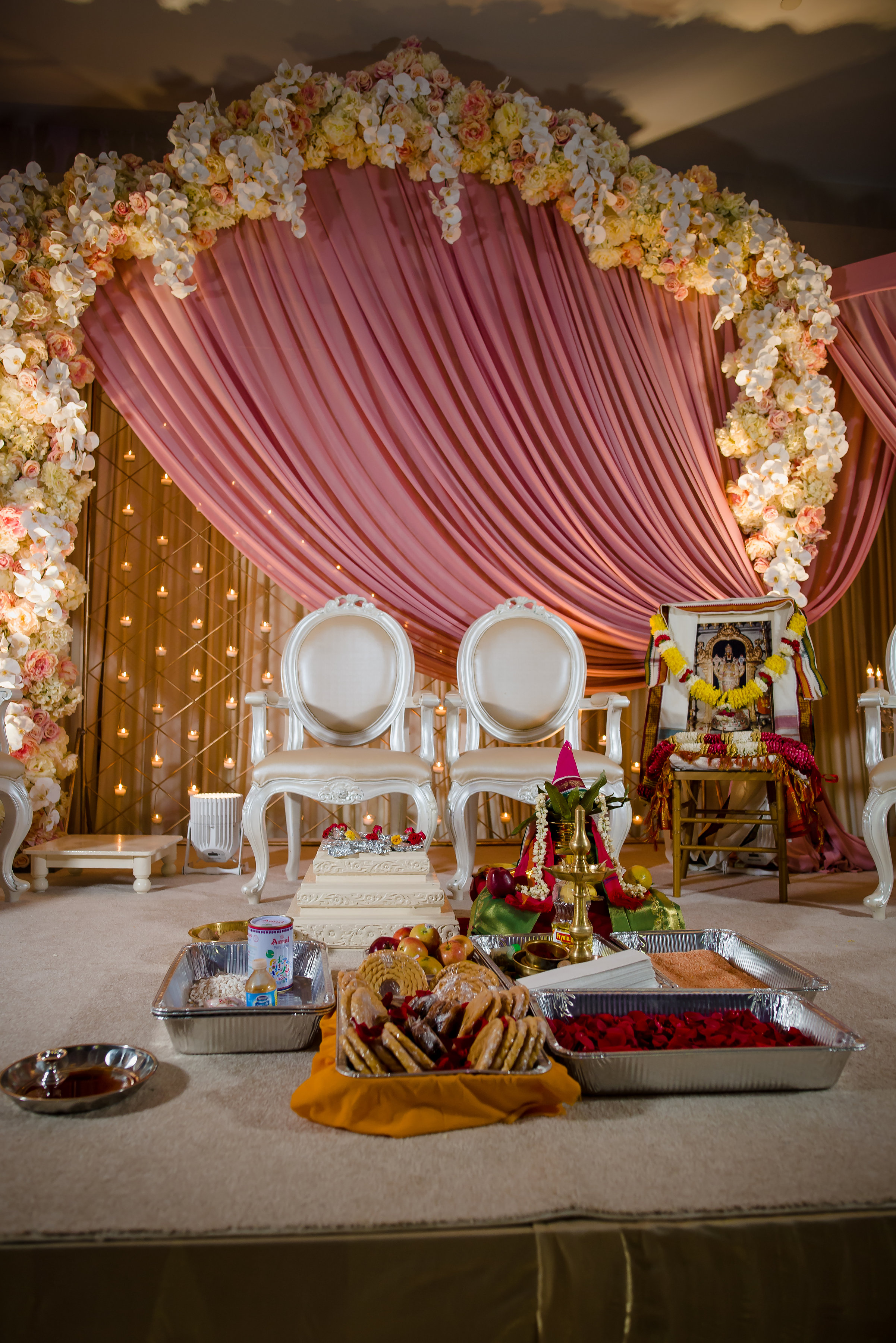 PINK MANDAP WITH FLOWERS