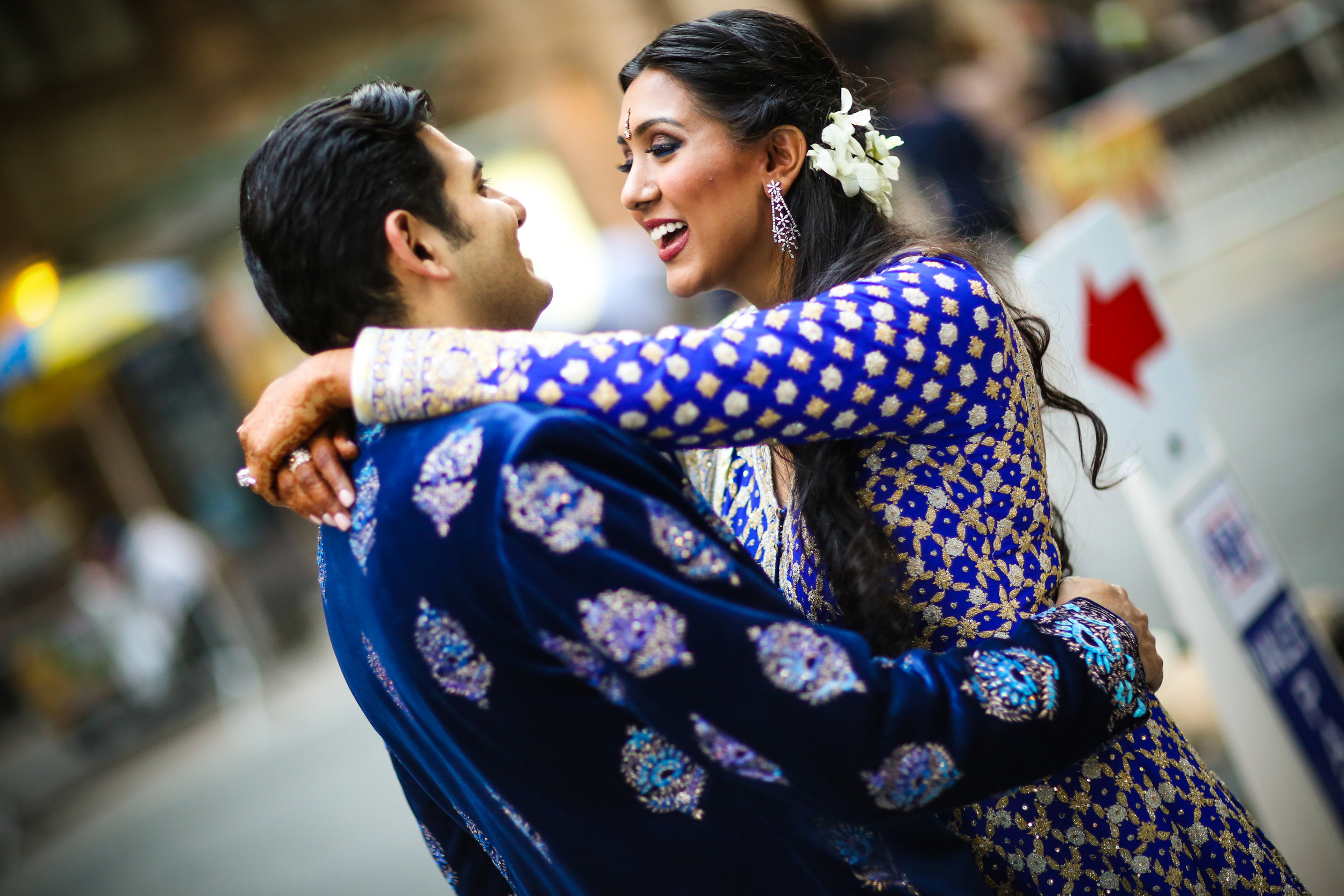 Beautiful Indian Smiling Couple