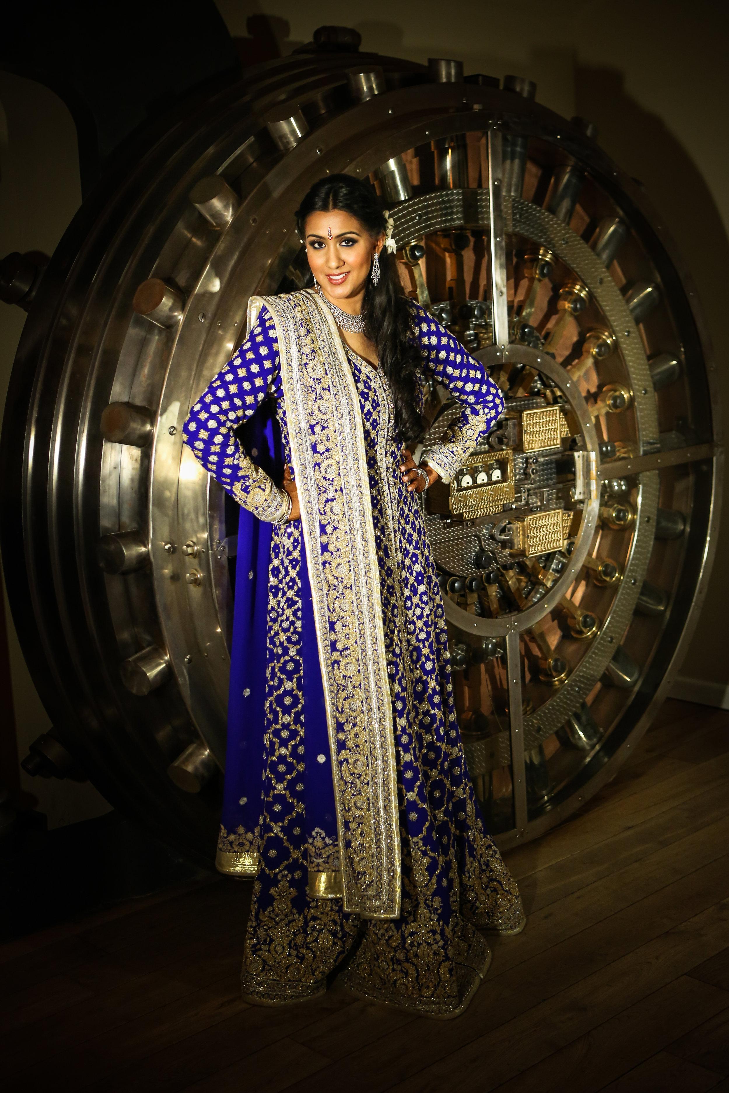 Beautiful Indian Woman at Large Safe
