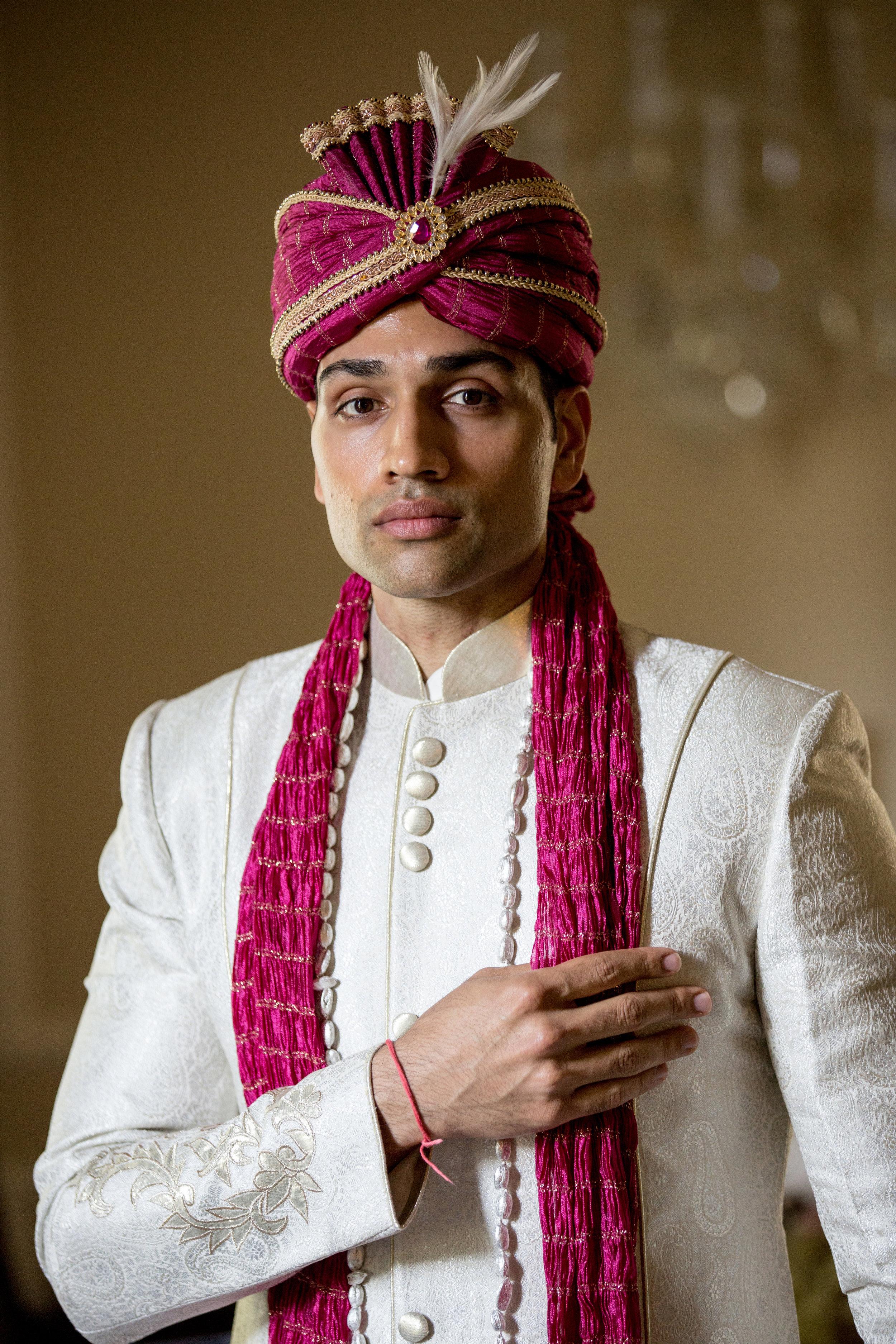 dressed groom