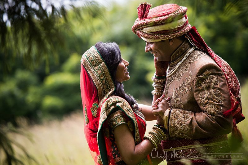 INDIAN COUPLE GAZING AT EACH OTHER