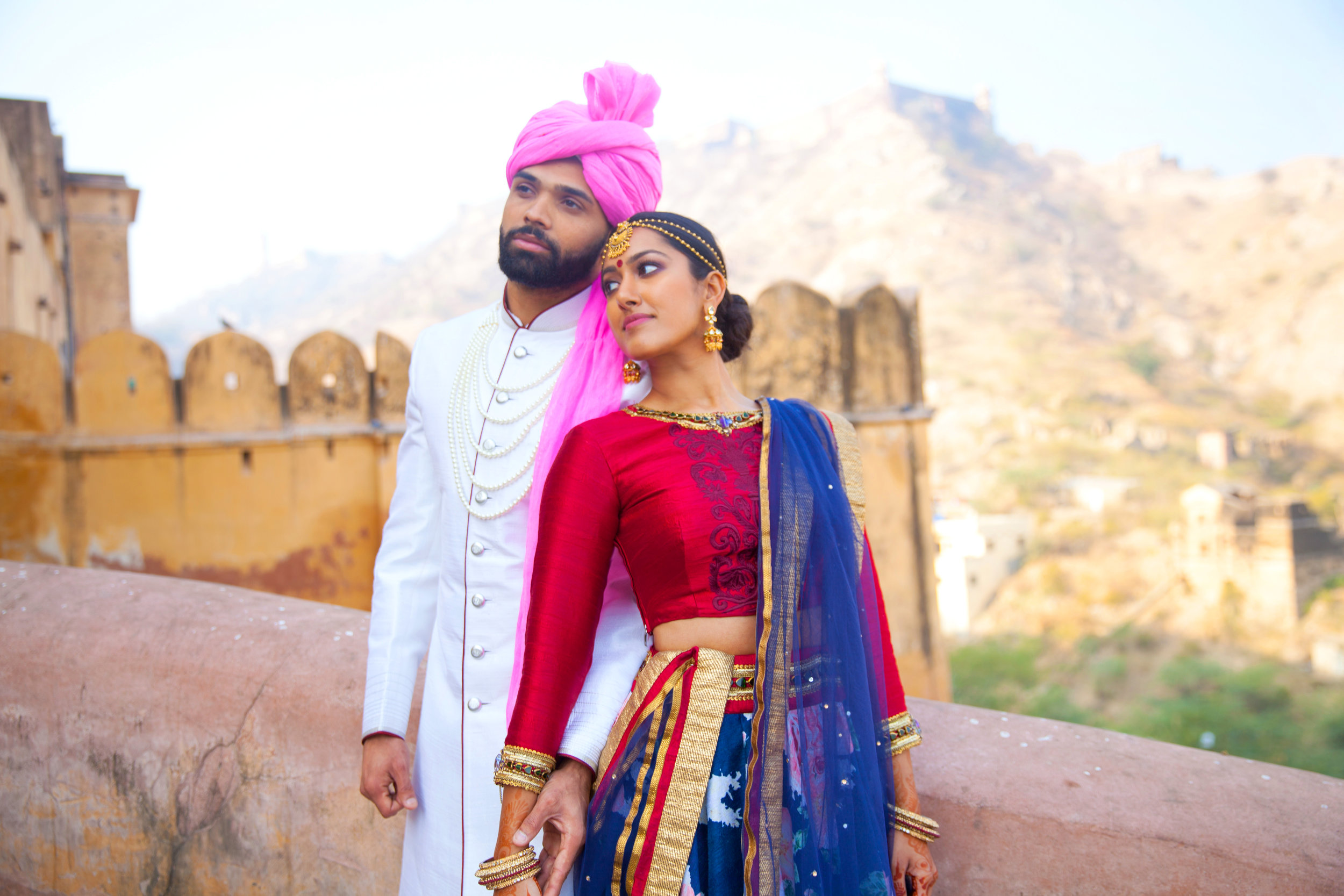 India Engagement Bride and Groom with Elephant (7).jpg