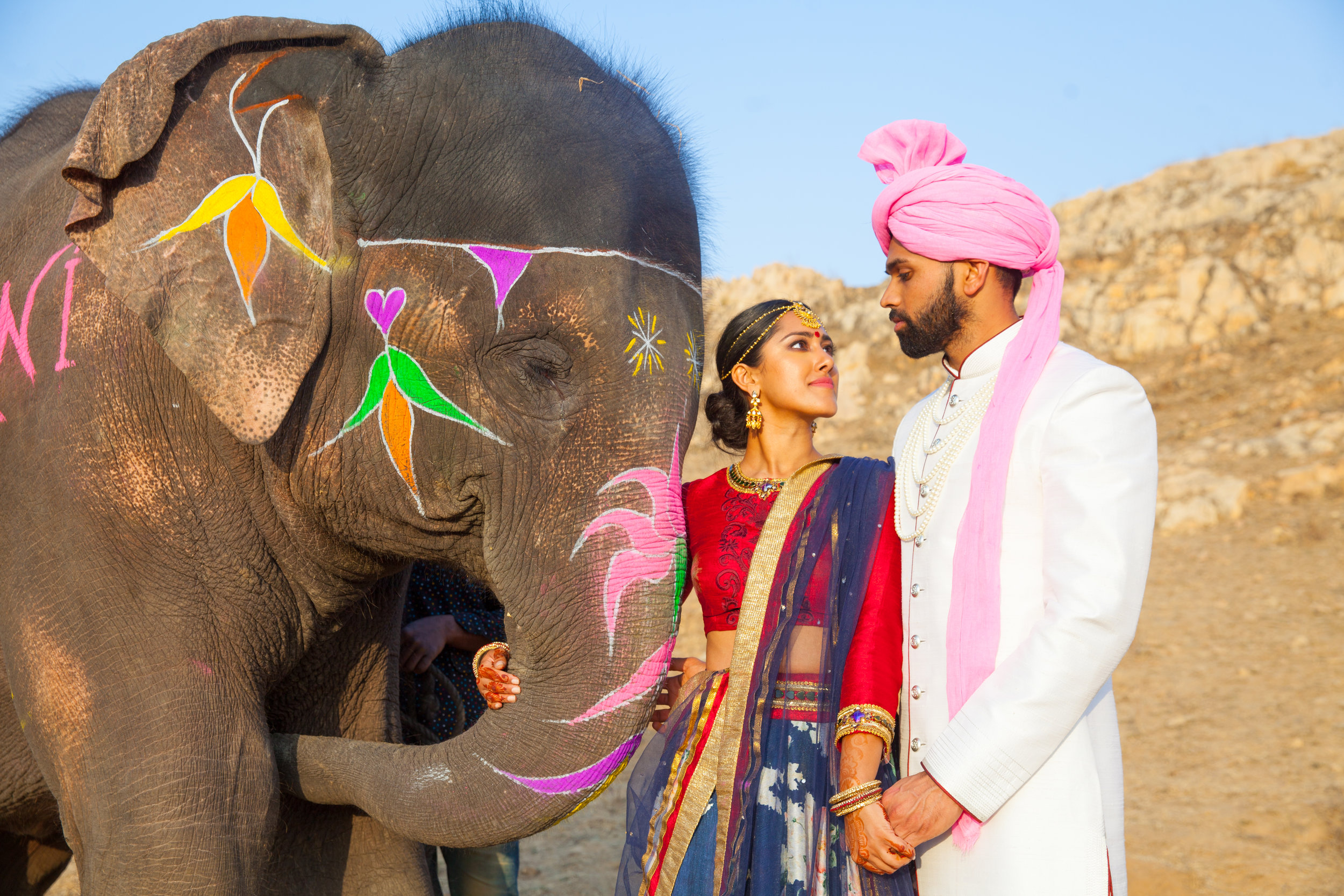 India Engagement Bride and Groom with Elephant (18).jpg