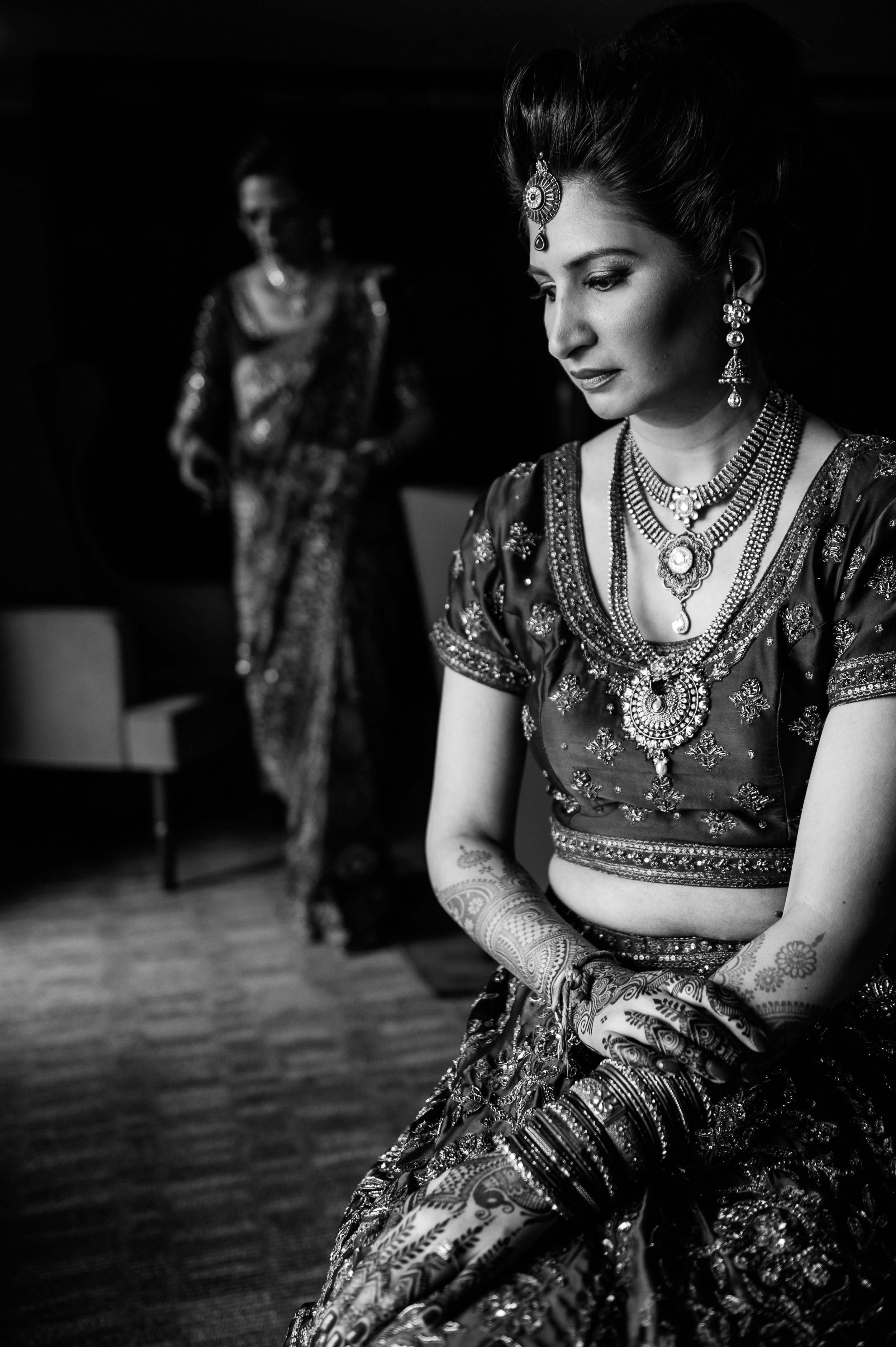 beautiful indian bride bw.JPG