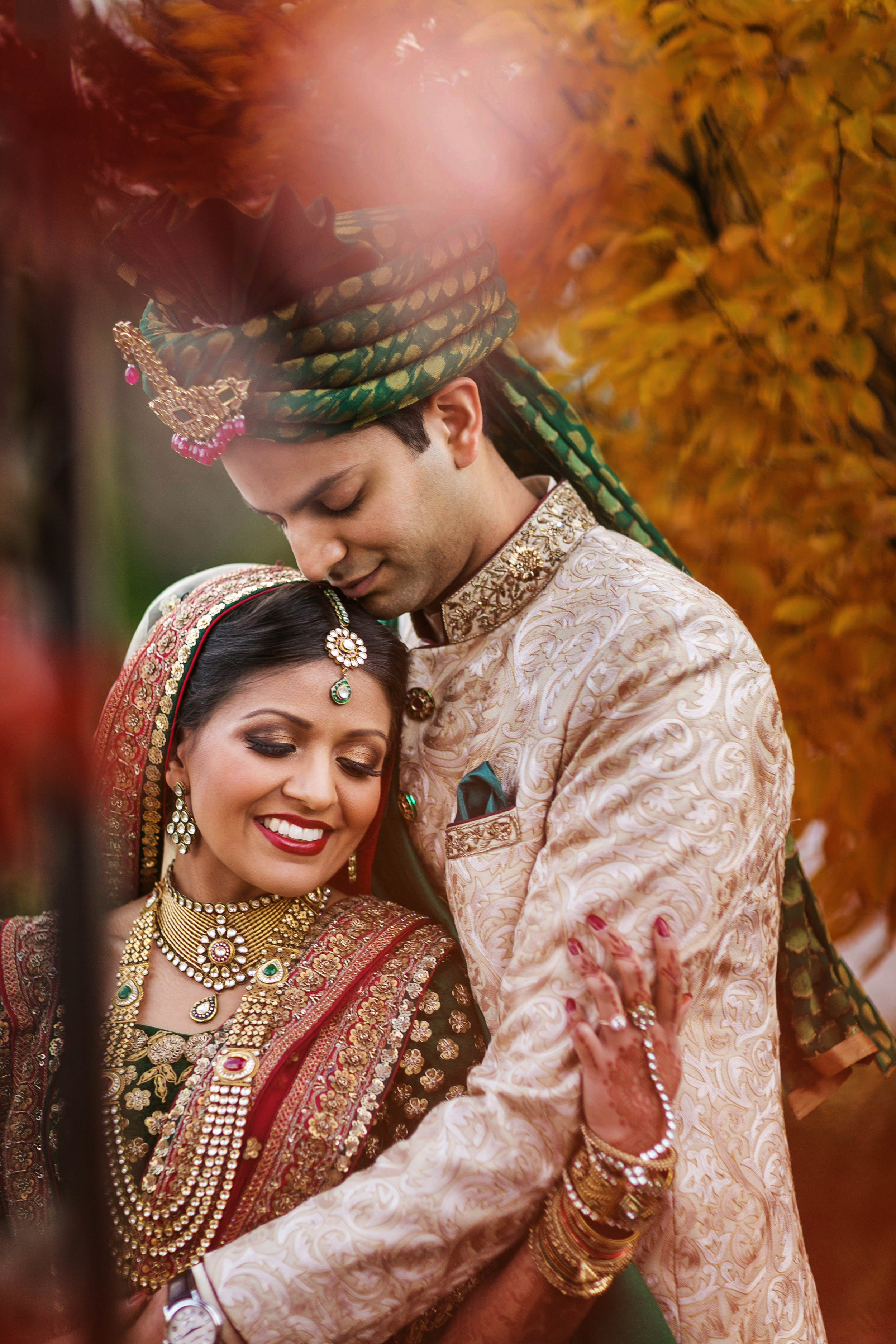 HAPPY INDIAN COUPLE AT SOUTH ASIAN WEDDING.JPG
