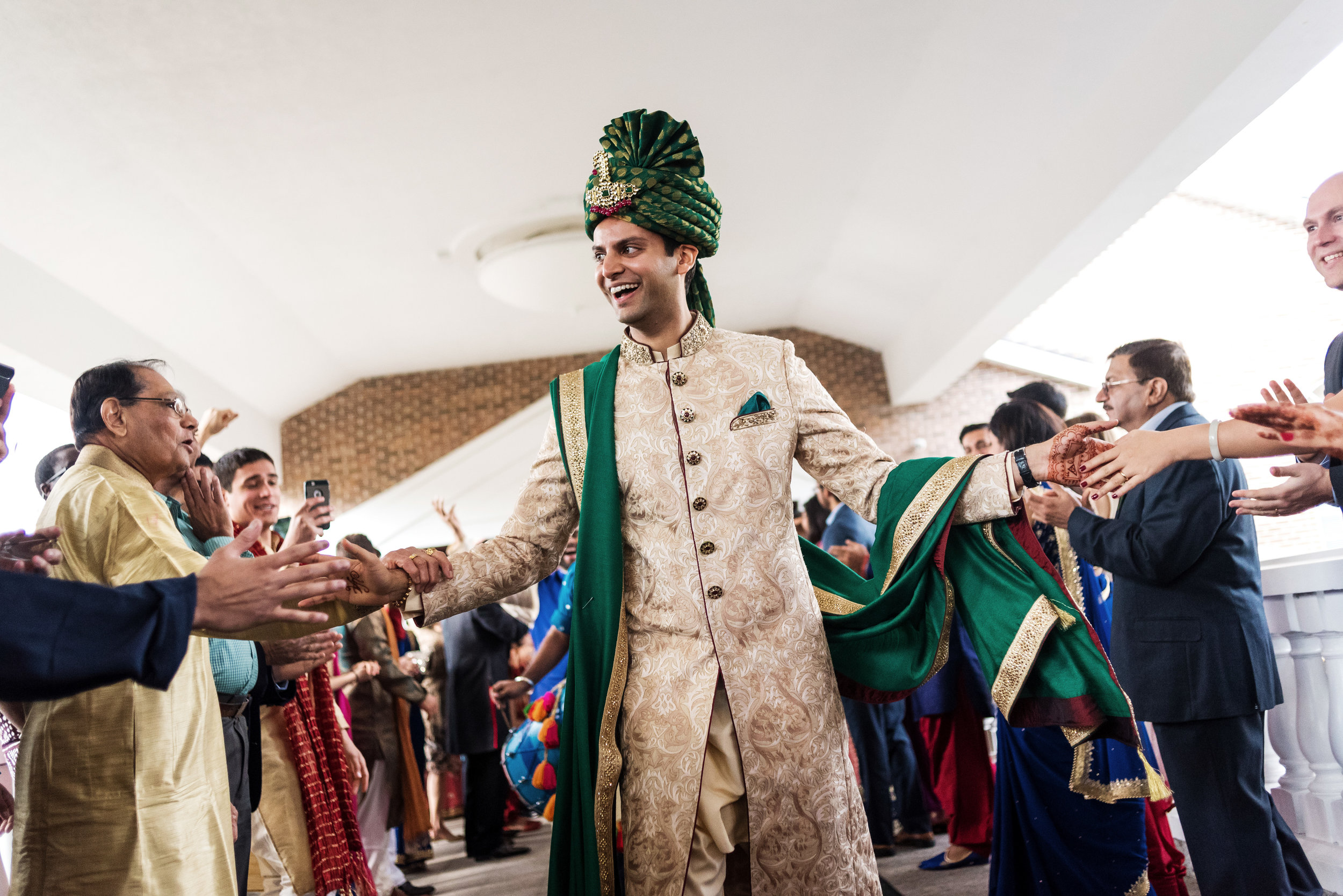 INDIAN GROOM AT WEDDING BARAAT.JPG