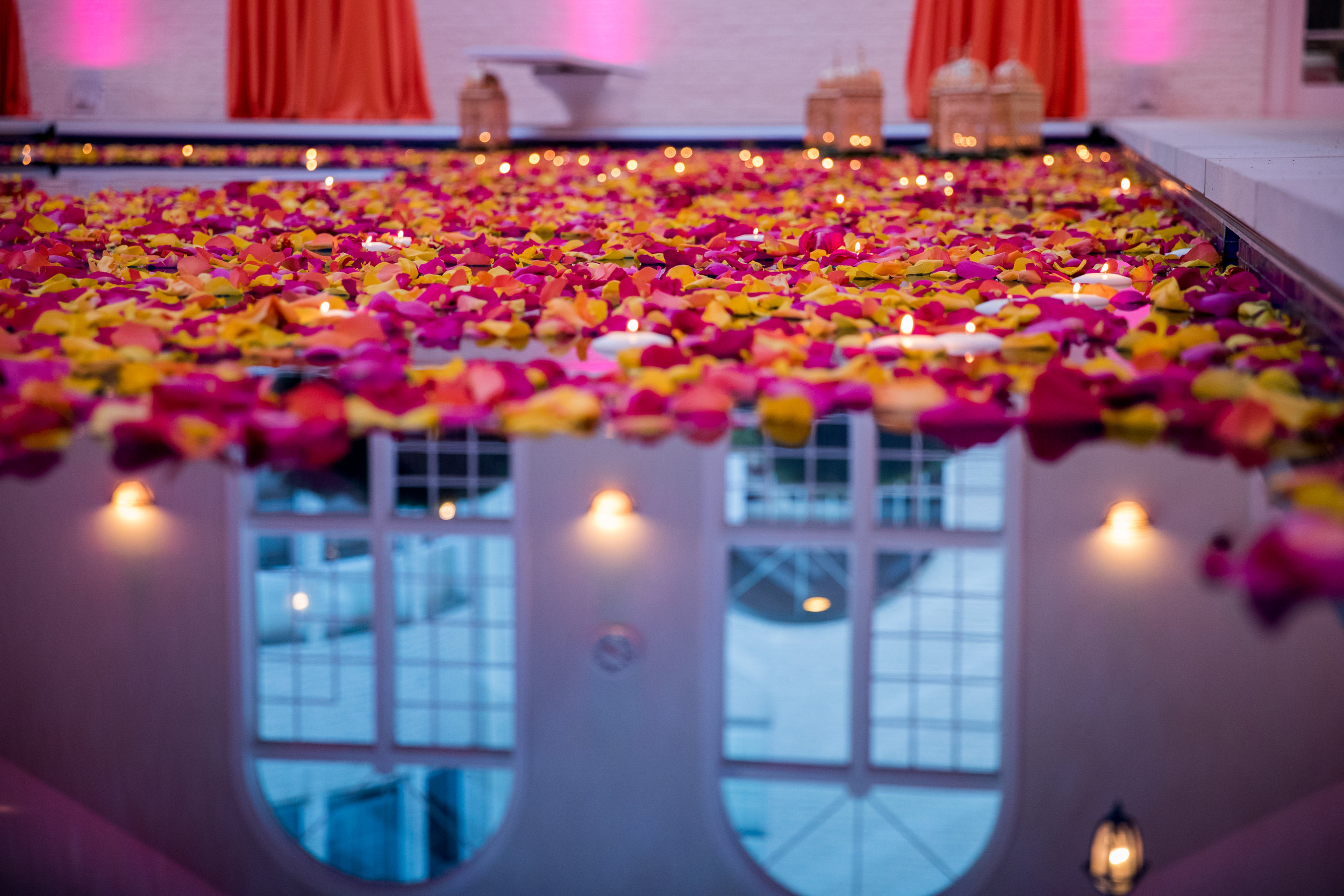 INDIAN WEDDING SANGEET FLORAL POOL LANTERN.jpg