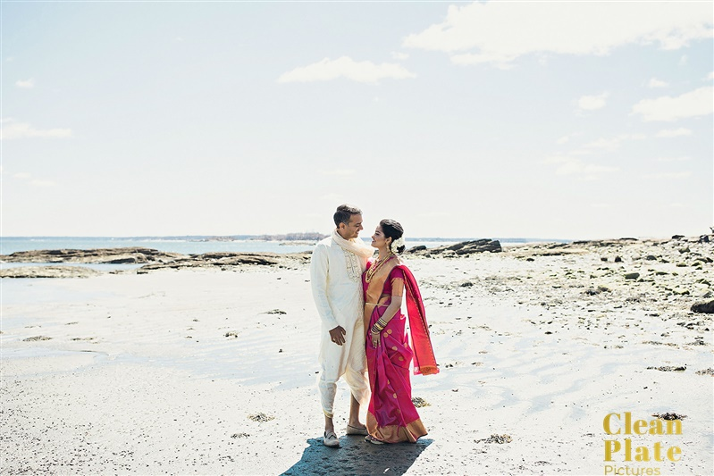 INDIAN WEDDING BRIDE AND GROOM ON BEACH.jpg