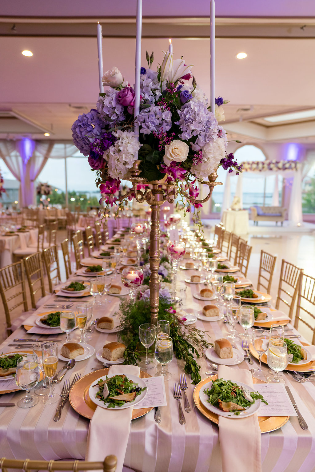 INDIAN WEDDING TABLE SETTING WITH CENTERPIECE CLOSEUP.jpg