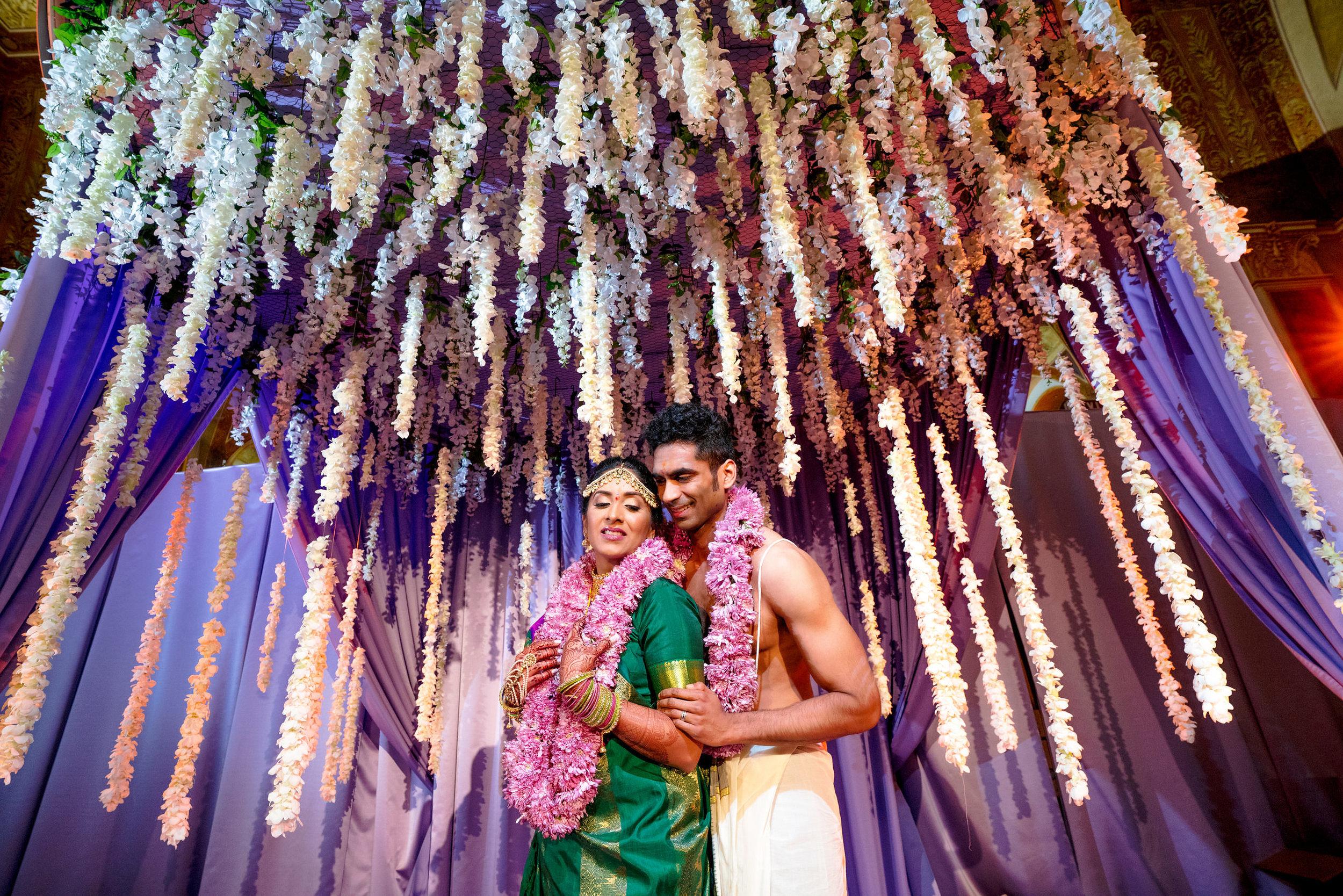 INDIAN WEDDING BRIDE AND GROOM CEREMONY FLOWER ALTER.JPG