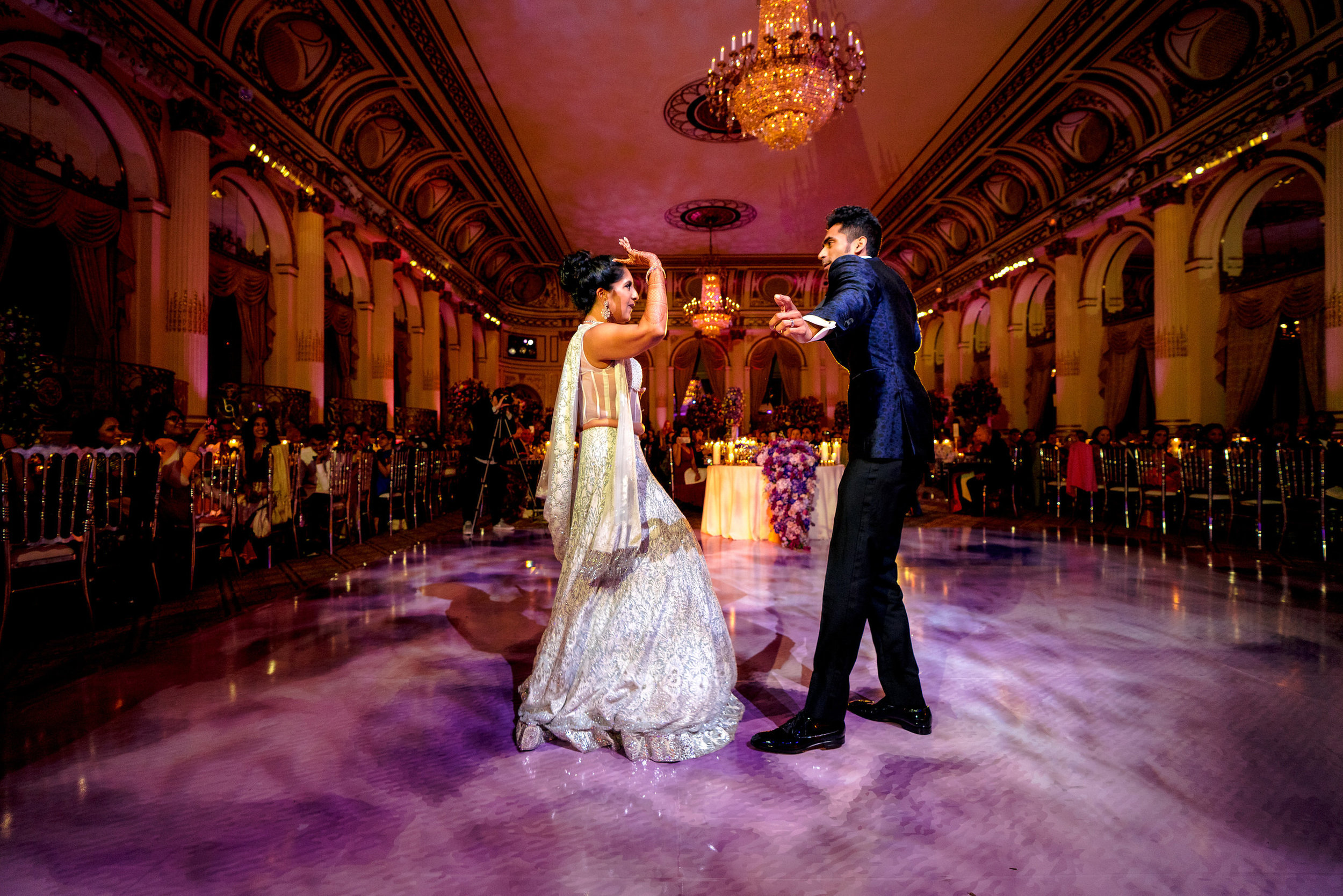 INDIAN WEDDING BRIDE AND GROOM DANCE RECEPTION.JPG