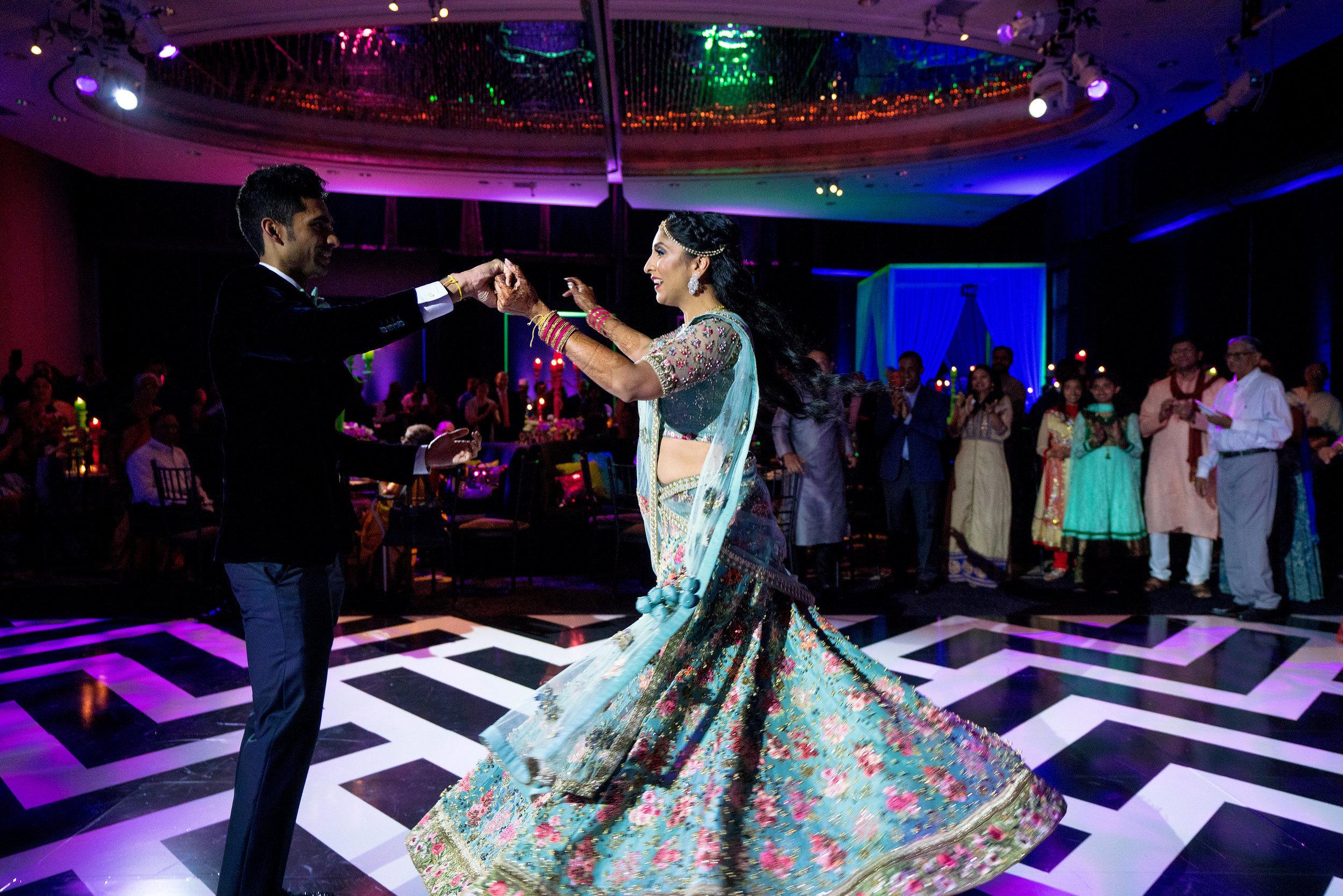 INDIAN WEDDING BRIDE AND GROOM RECEPTION DANCE.JPG