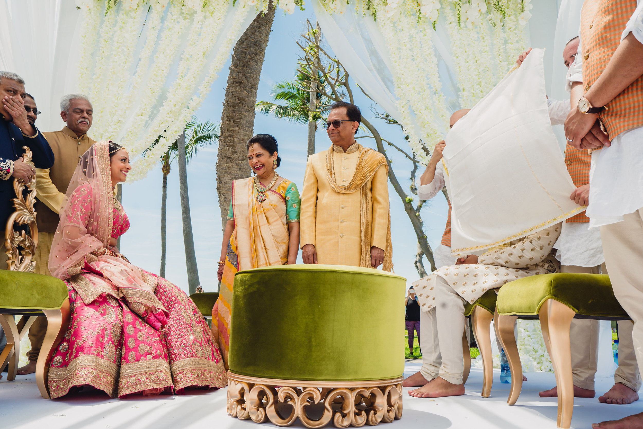 INDIAN WEDDING BRIDE AND GROOM ON ALTER.JPG