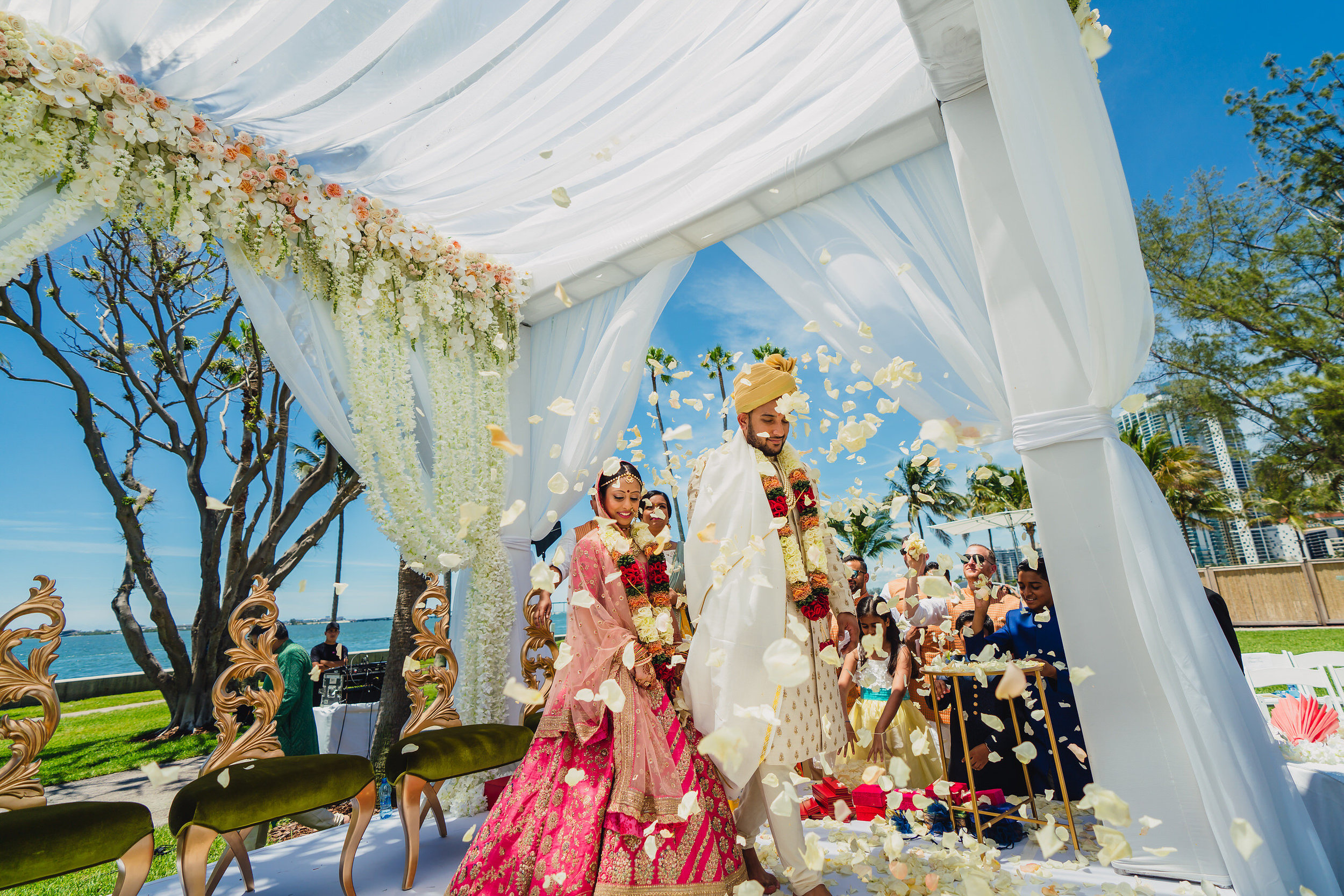 INDIAN WEDDING BRIDE AND GROOM WITH FLOWERS.JPG