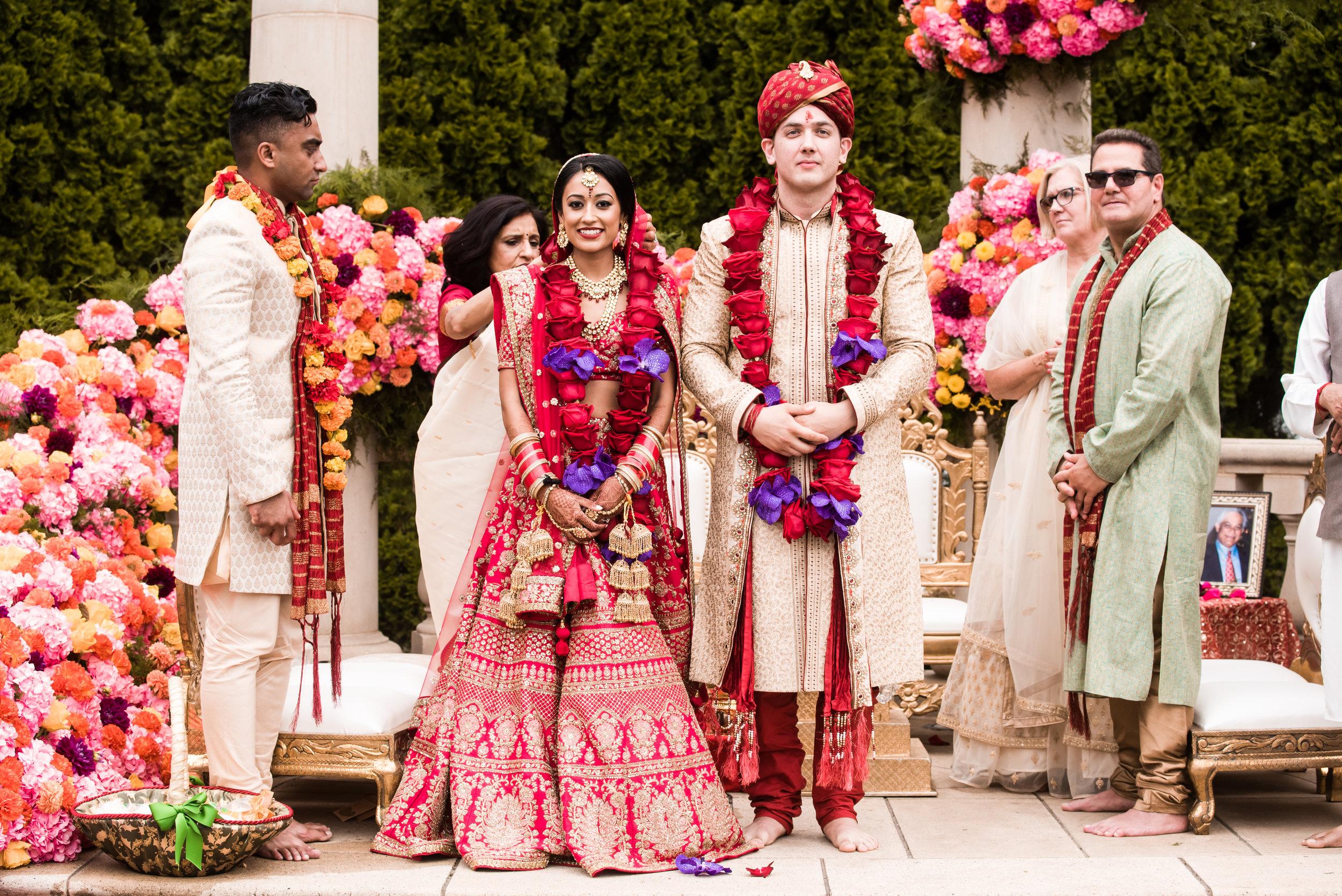 INDIAN WEDDING BRIDE IN GROOM ON CEREMONY ALTER.jpg