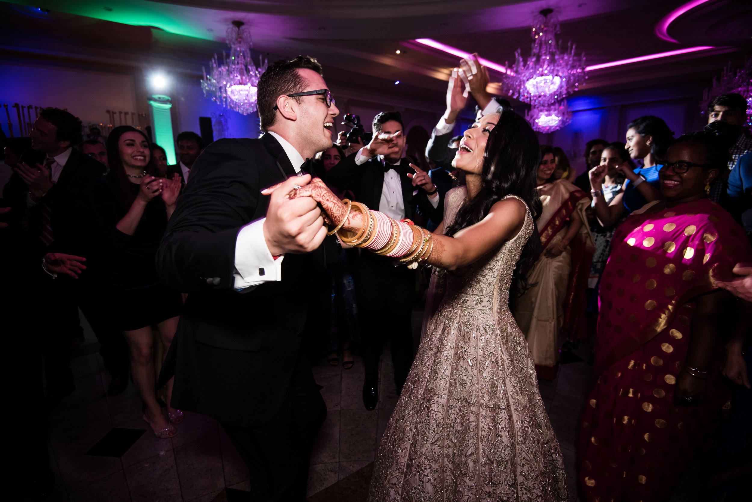 INDIAN WEDDING RECEPTION BRIDE AND GROOM DANCING.jpg