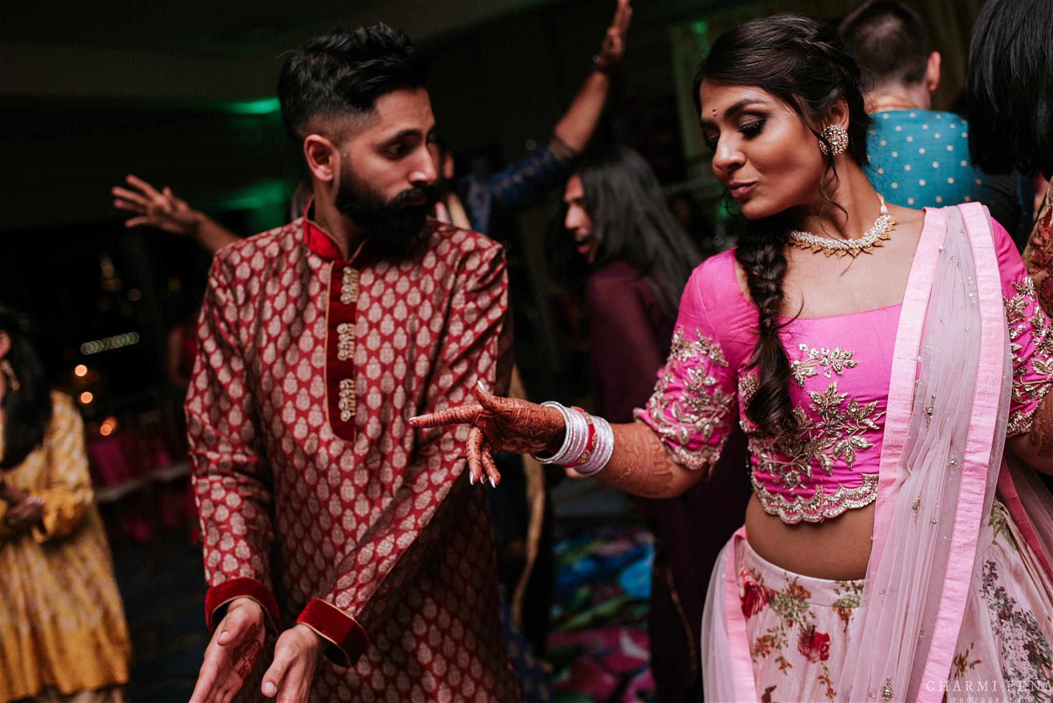 INDIAN WEDDING SANGEET BRIDE AND GROOM DANCING 2.jpg