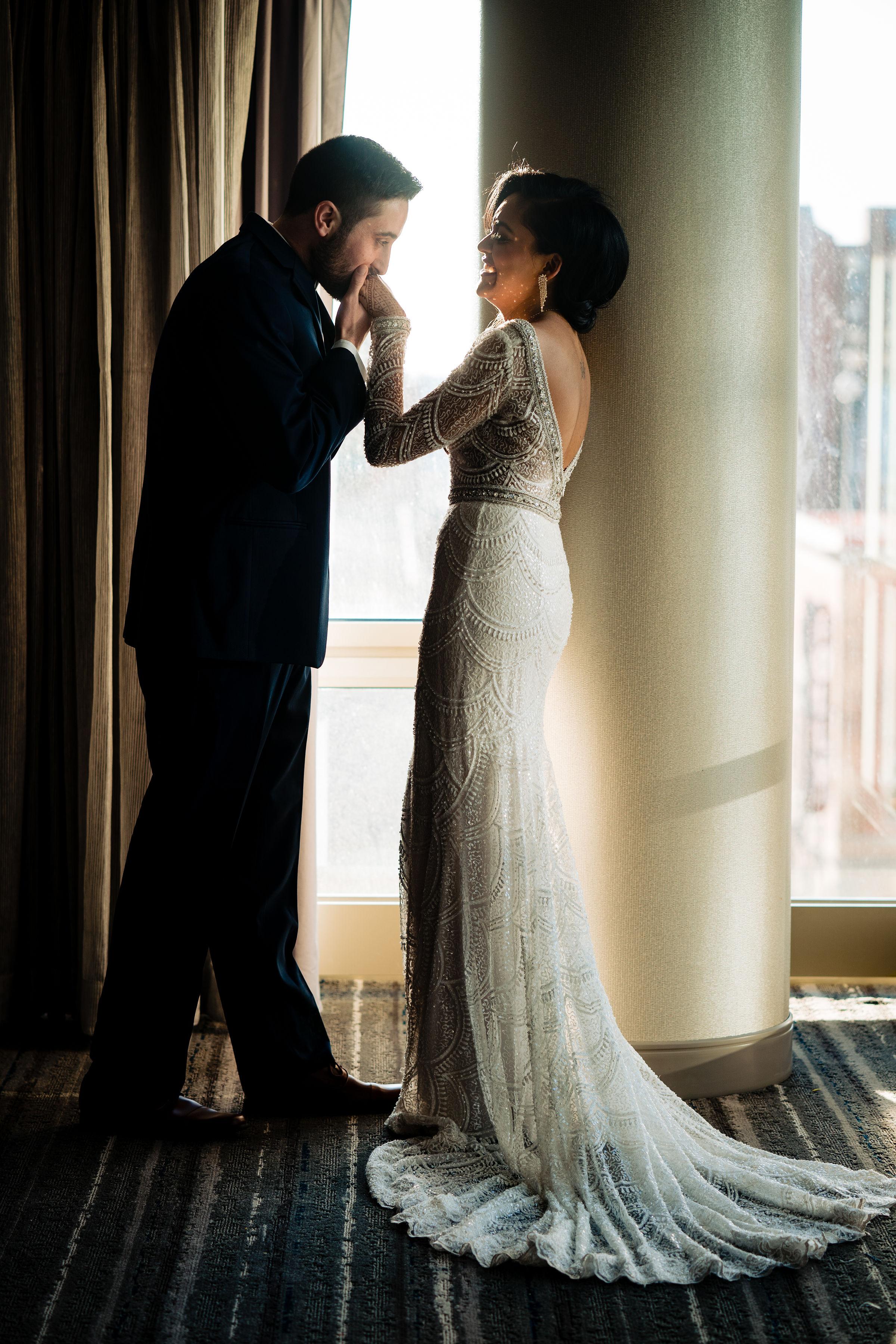 INDIAN WEDDING RECEPTION BRIDE AND GROOM.JPG