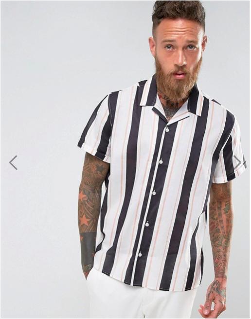 ASOS Oversized Stripe Shirt