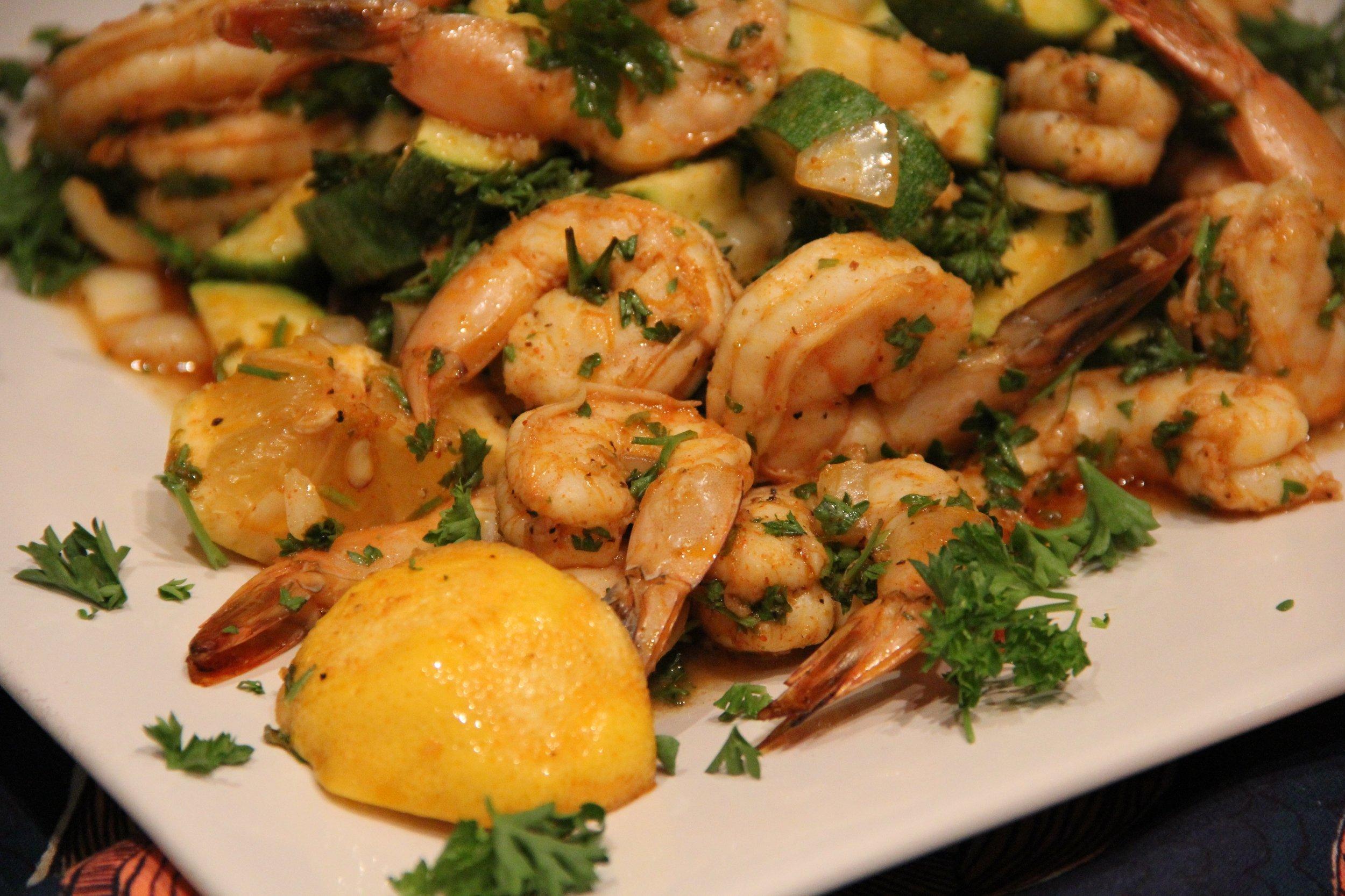 Chermoula Shrimp