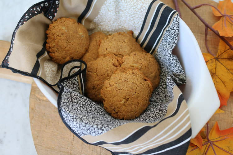 Salted Caramel Pumpkin Cookies