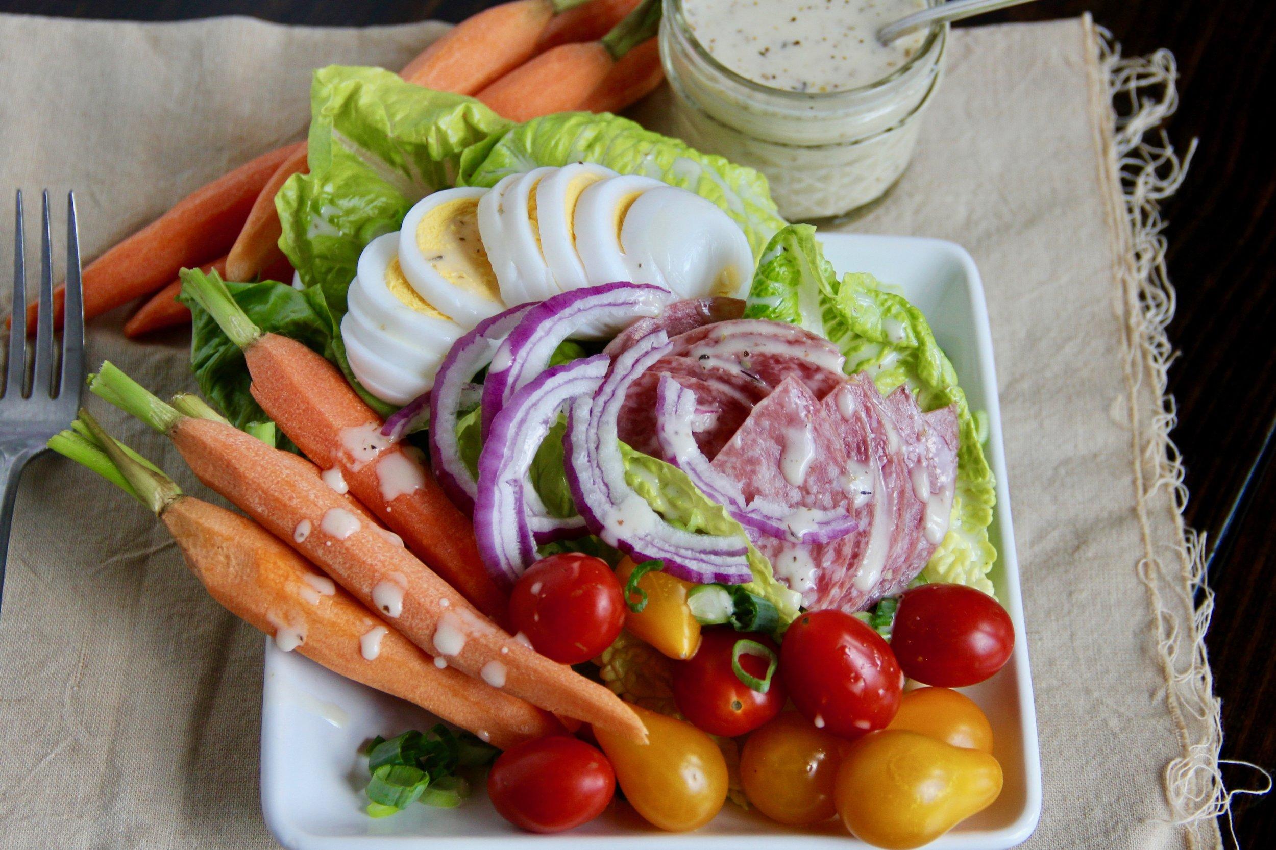 Cobb Salad with Creamy Italian Dressing
