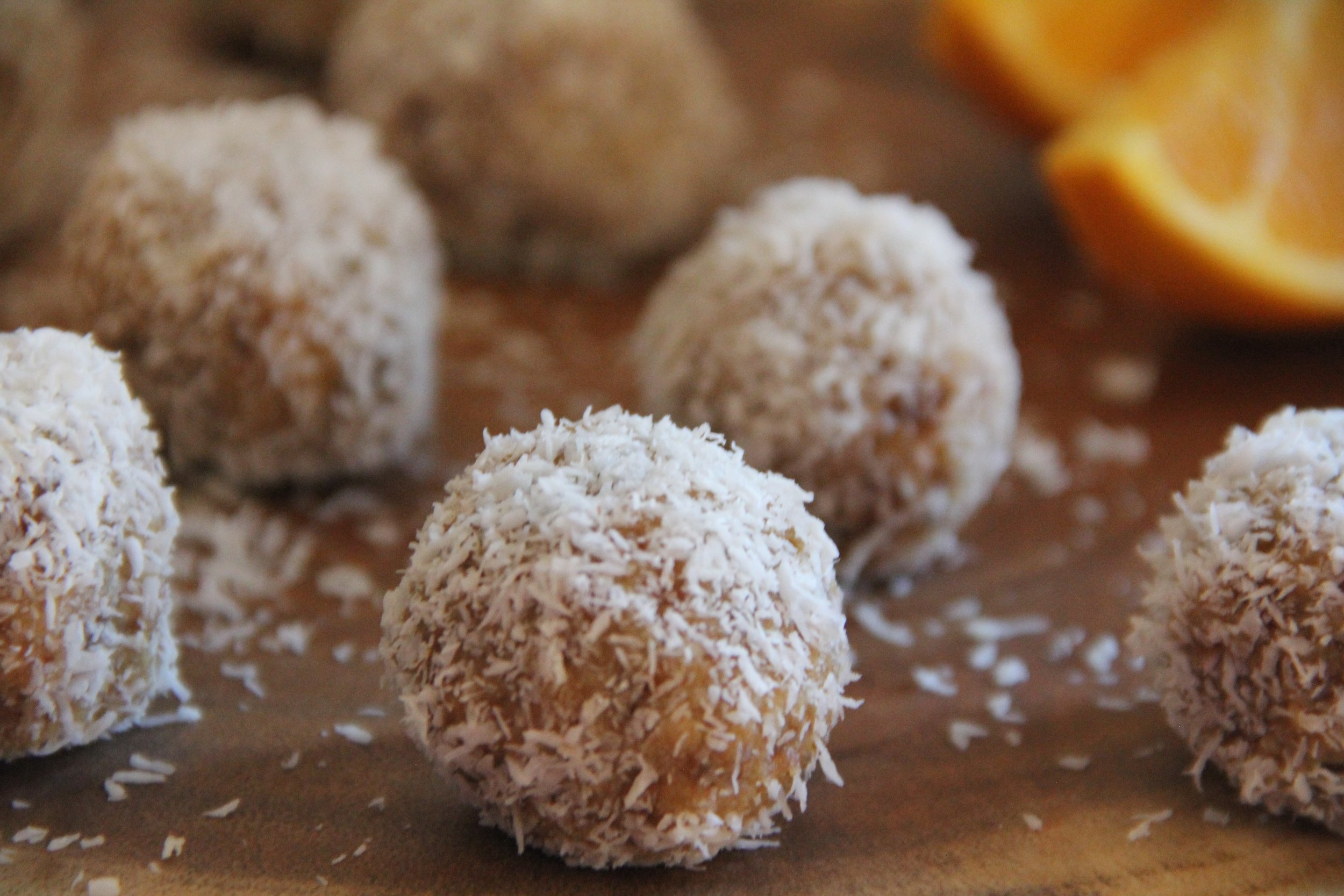 Orange Coconut Balls