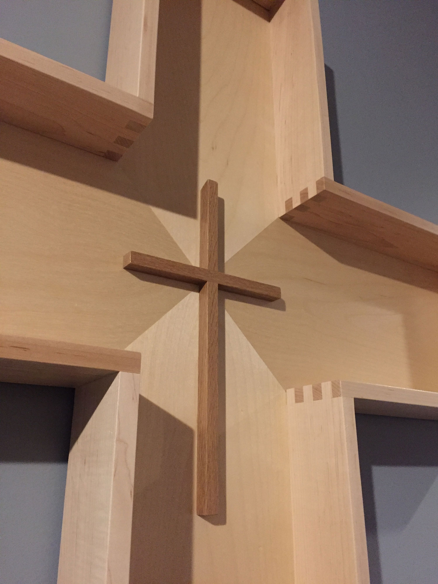 Detail of Pacione cross wall-display element