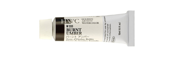 Click the image to buy Holbein Burnt Umber watercolor paint online...