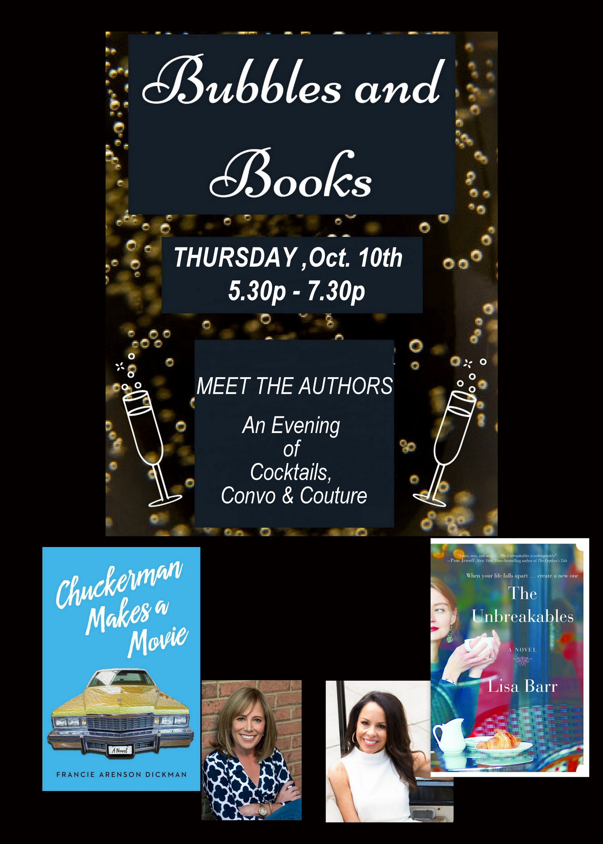 Join us - October 10th, for an evening of book conversation and shopping