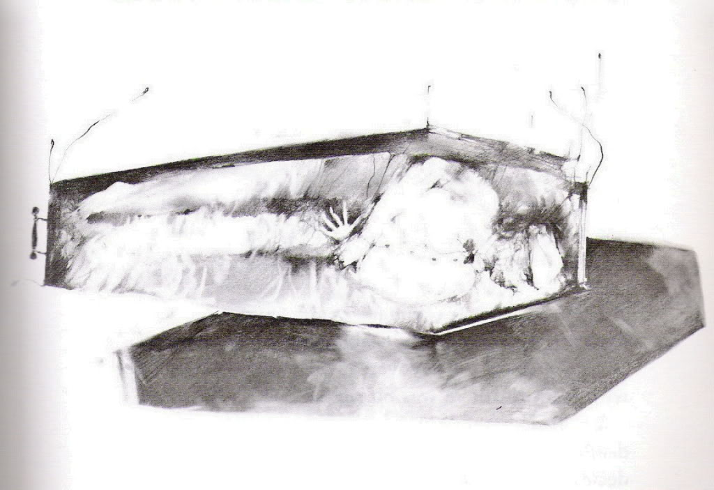 """Original """"Cold As Clay"""" Illustration by Stephen Gammell"""