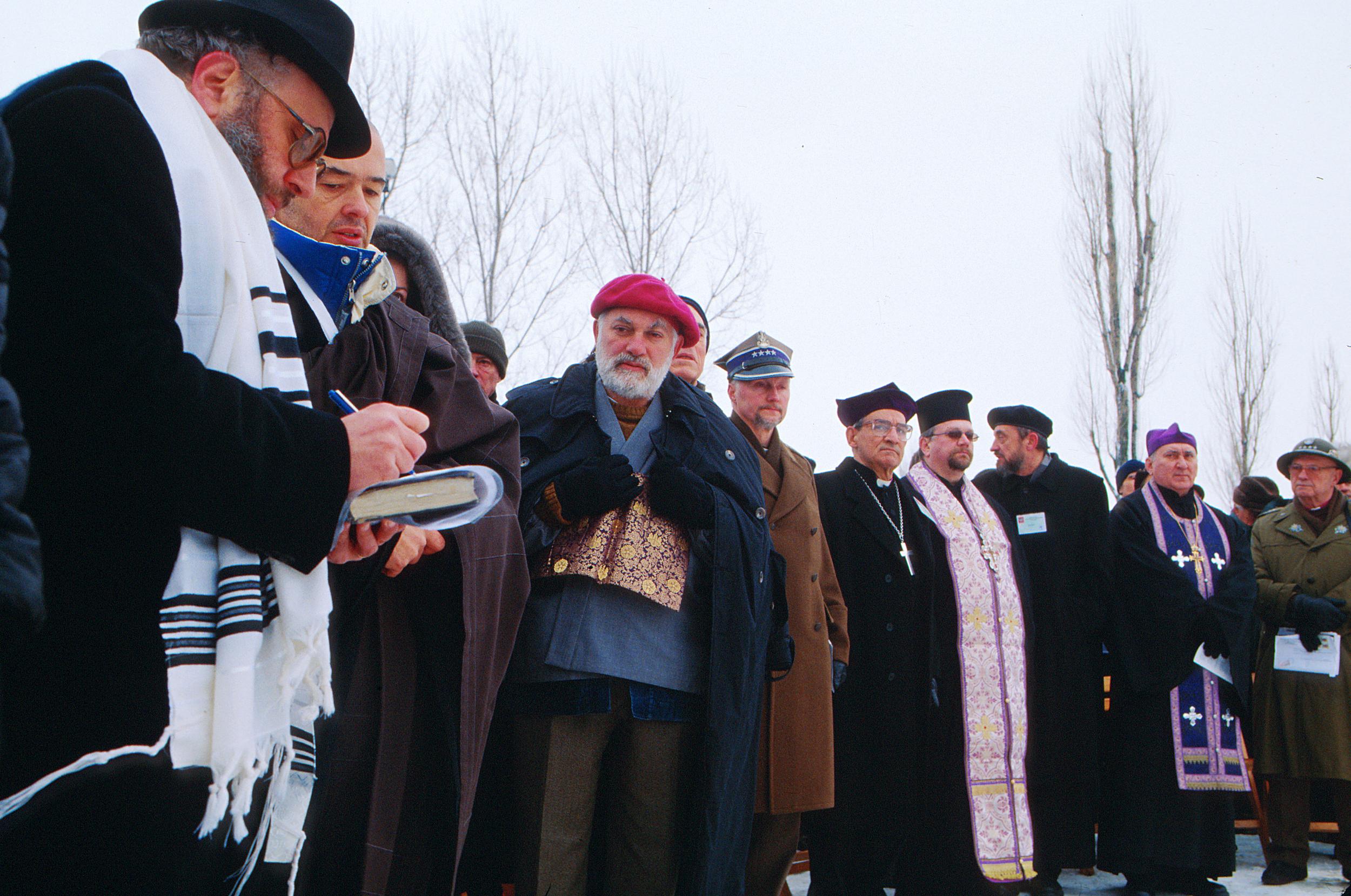 An interfaith ceremony in Birkenau January 2005