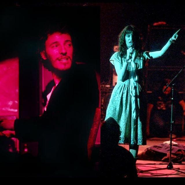 Before Because. ⠀ ⠀ Springsteen in 1973 and Patti Smith in 1975.⠀ ⠀ ⠀ #becausethenight #springsteen #pattismith #brucespringsteen #themainpoint #philadelphia #relationship #broadway #broadwaytheater #petercunninghamphotography #petercunningham #photography #bruce #storytellingphotography