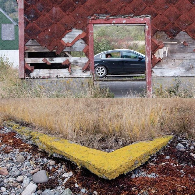 "Now and Then. Abandoned herring sheds and a washed away foundation on Grand Manan island.⠀ ⠀ From, ""Disappearing Before our Eyes"".⠀ ⠀ #herring #smokeshed #modernization #gentrification #grandmanan #abandoned #foundation #washedaway #disappearing #disappearingbeforeoureyes #luxury #luxurycars #limousine #forgetting #forgotten #passing #generationalchange #change #petercunninghamphotography #petercunningham⠀ ⠀"