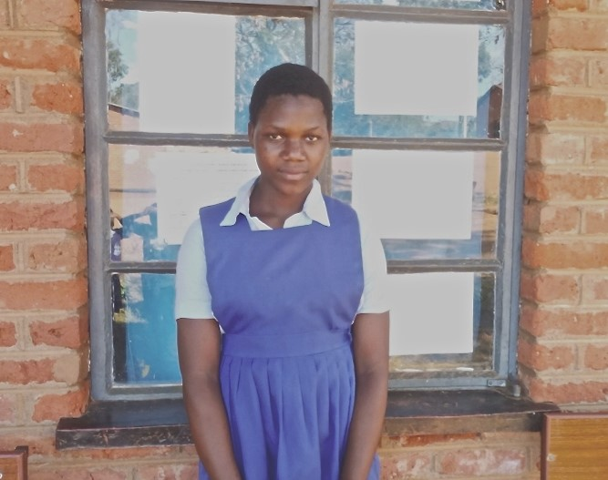 Now that the new toilets have been built, Ivy Nazombe is doing much better in school
