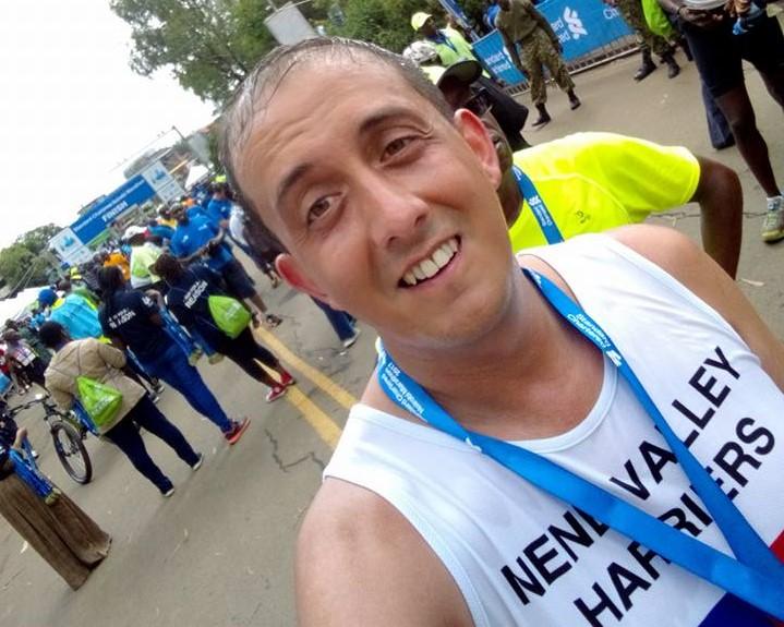 Above: Steve competes in the Nairobi half marathon