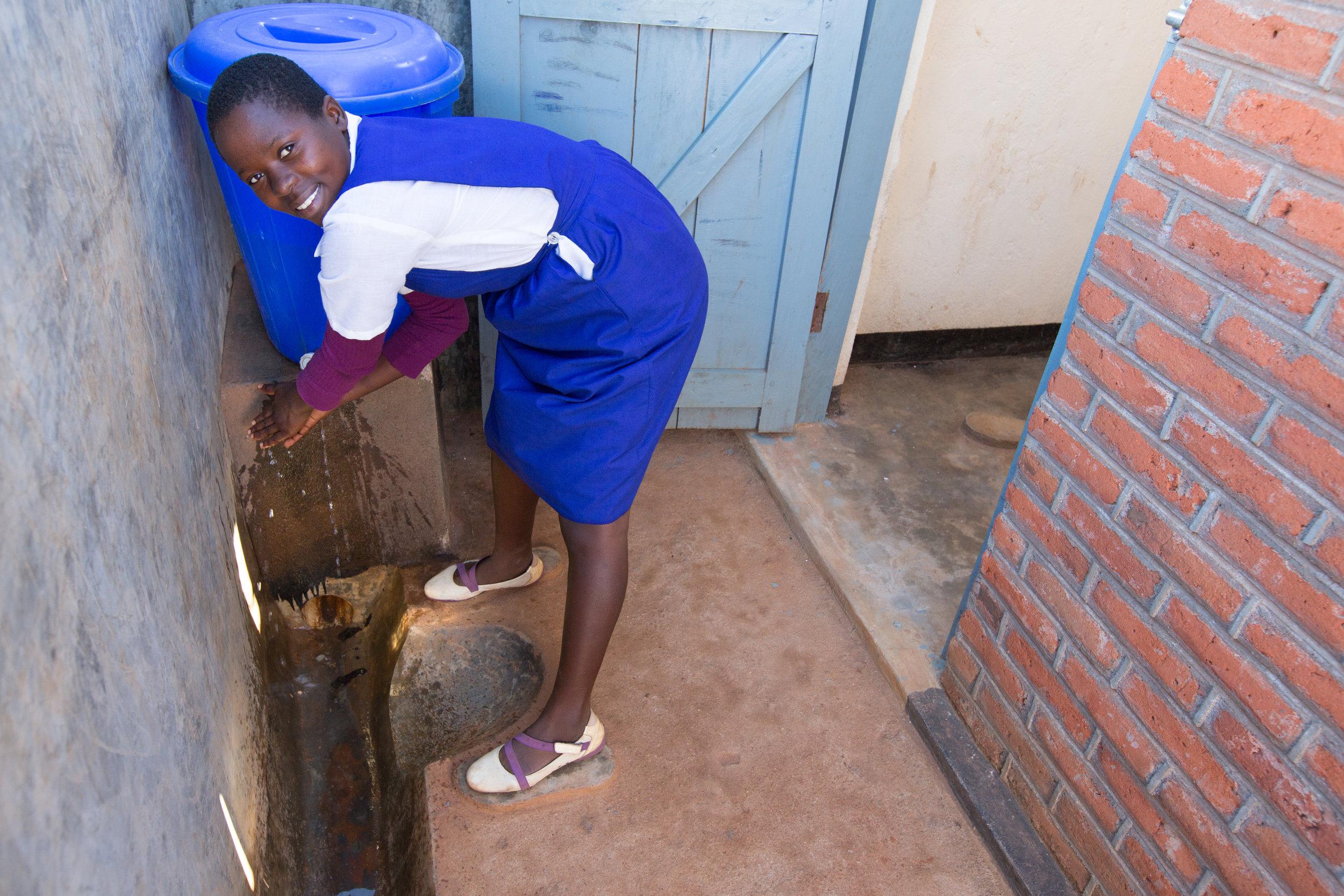 New school toilet blocks have improved menstrual hygiene for girls.