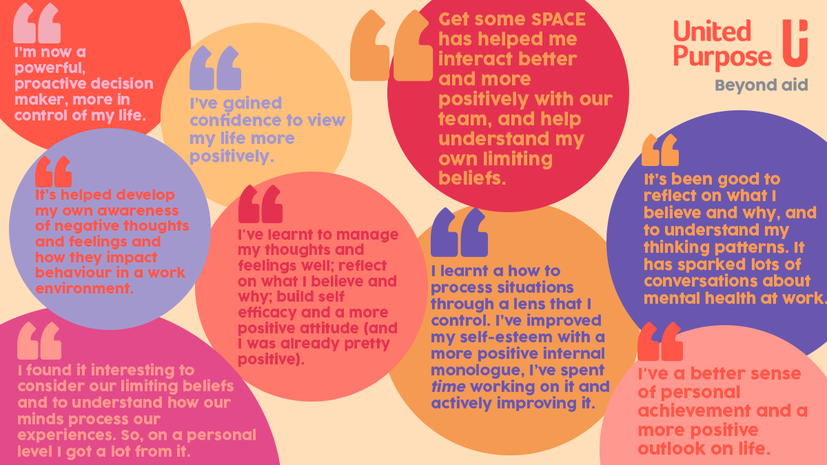 Get some space thrive programme mental health in the workplace award