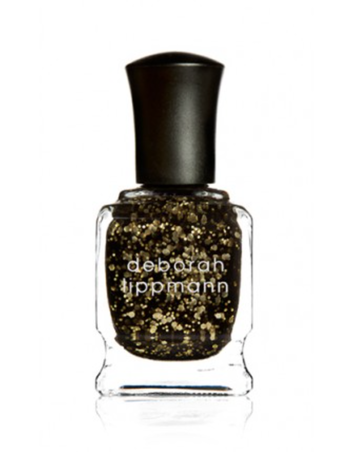 Deborah Lippmann Cleopatra in NEW YORK; Try using a dark red or black underneath this polish to enhance the gold sparkles