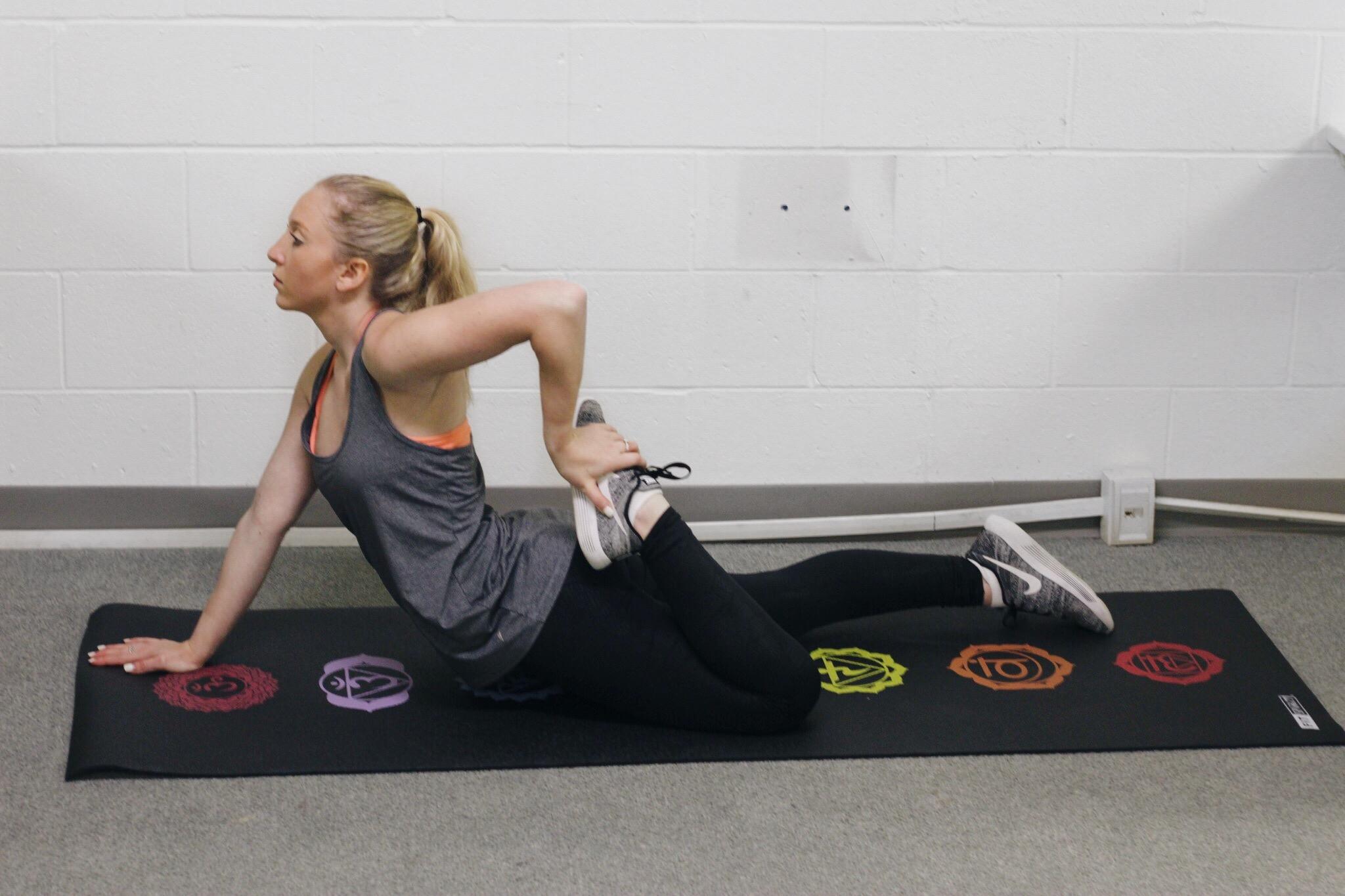 Cobra + hamstring stretch