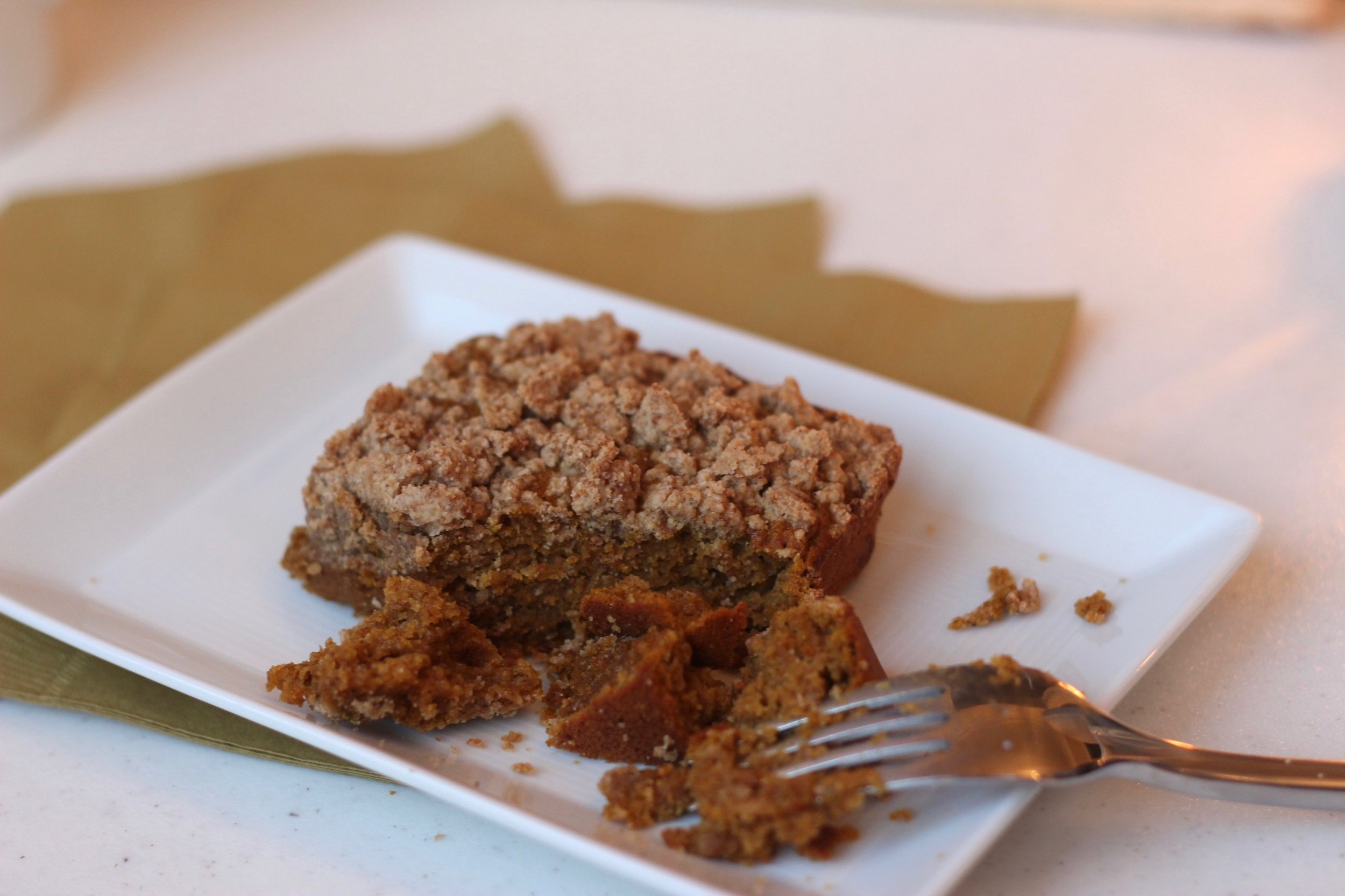 Simple clean pumpkin coffee cake recipe by Au Courant Life