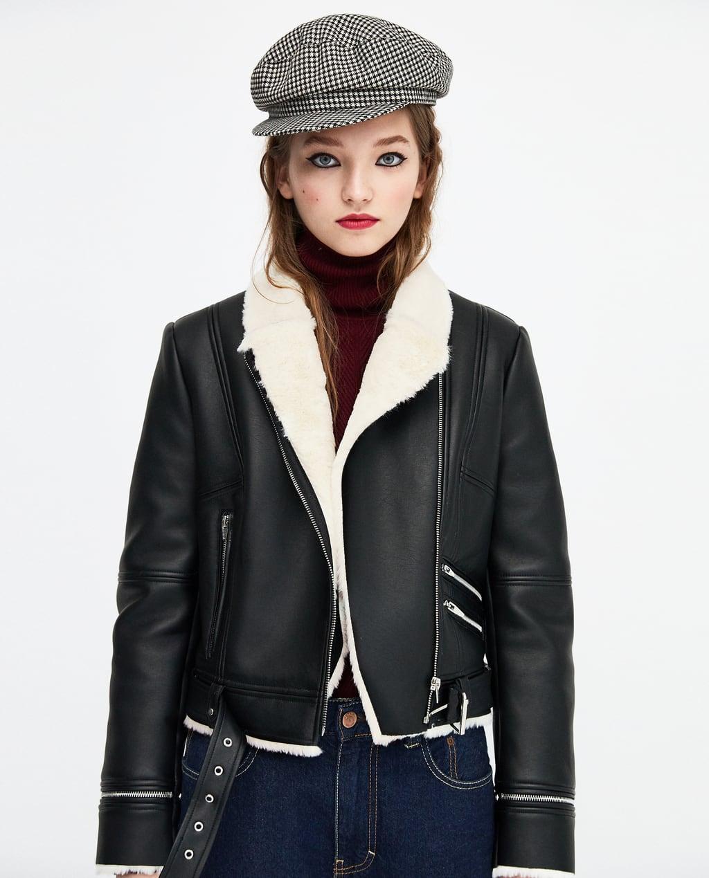 Warm Leather Biker Jacket