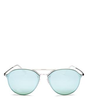 Ray-Ban Mirrored Brow Bar Rimless Sunglasses