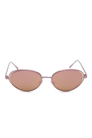 Metallic Oval Sunglasses