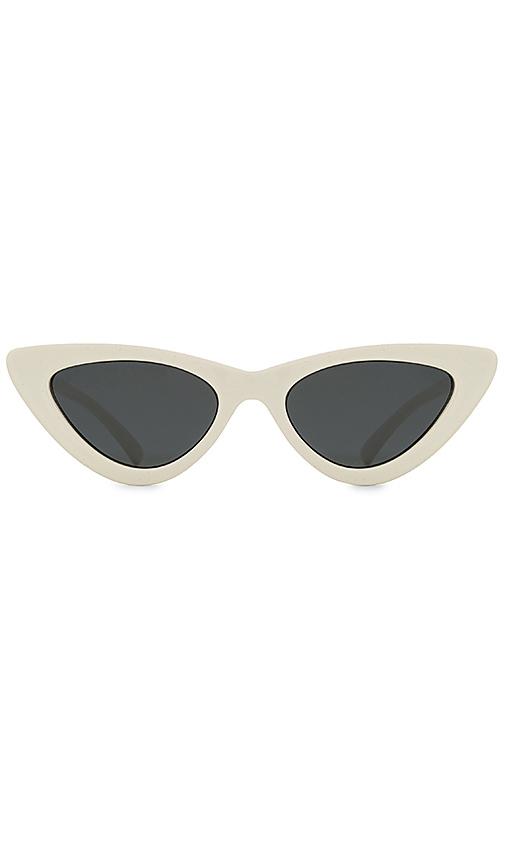 Le Specs x Adam Selman The Last Lolita in White & Smoke Mono