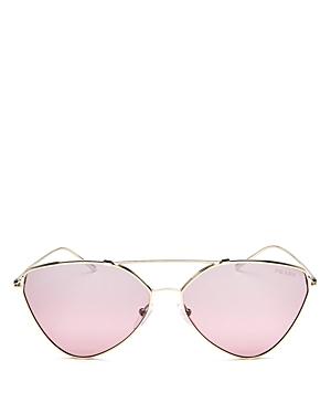 Prada Mirrored Brow Bar Cat Eye Sunglasses, 60mm