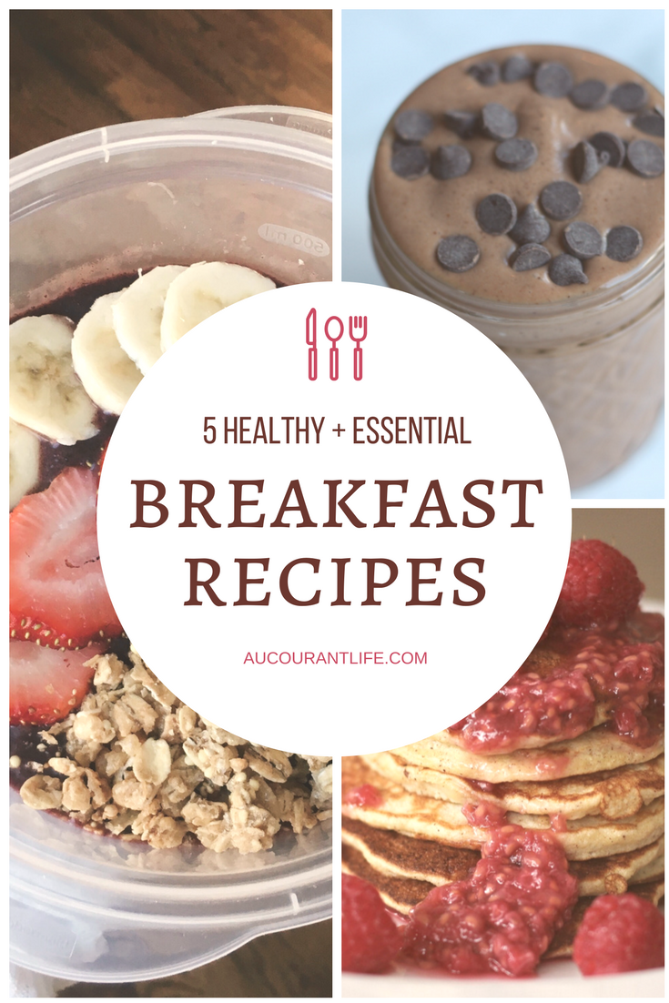 5 healthy and easy breakfast recipes by au courant life