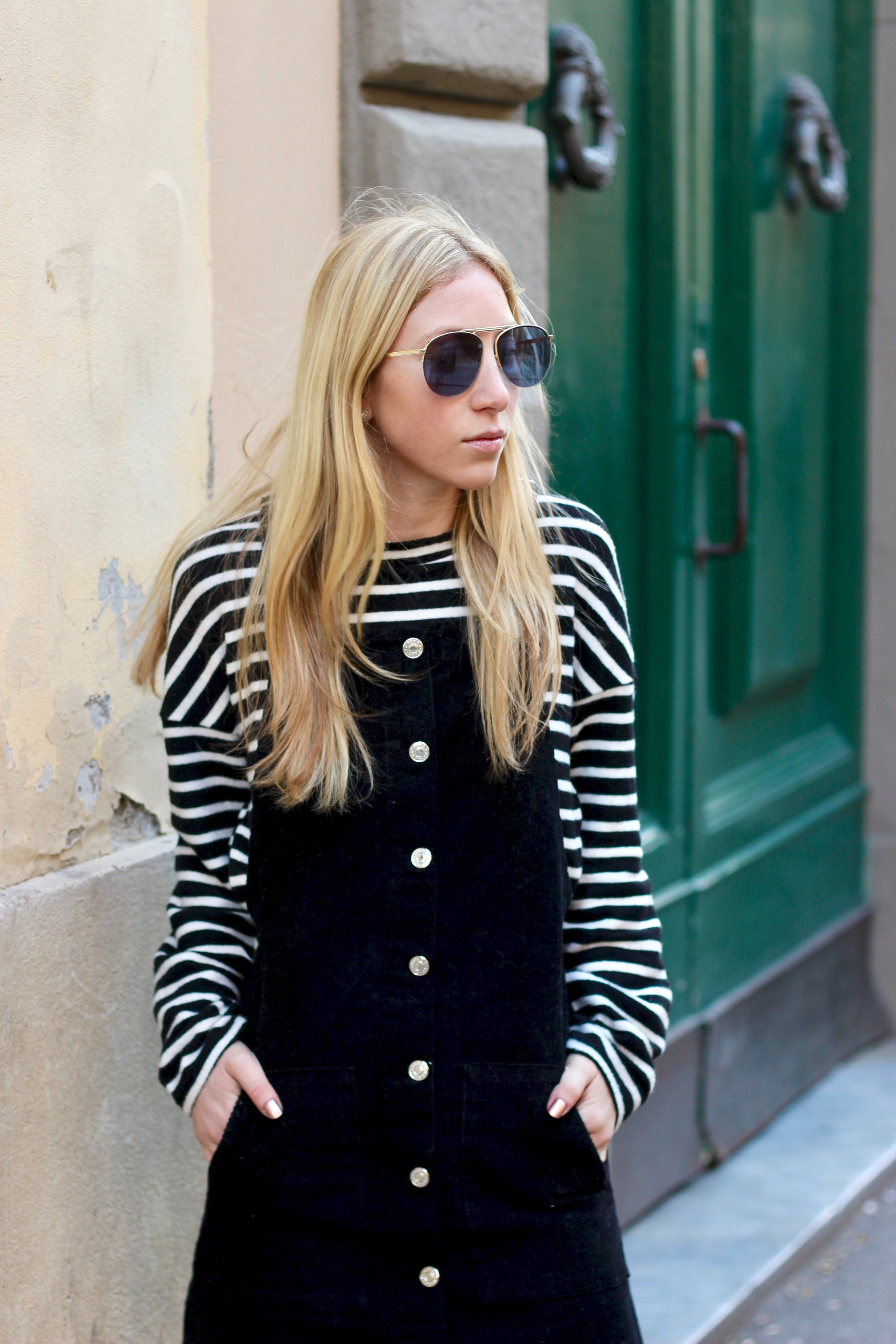 overall dress style from topshop by Au Courant Life